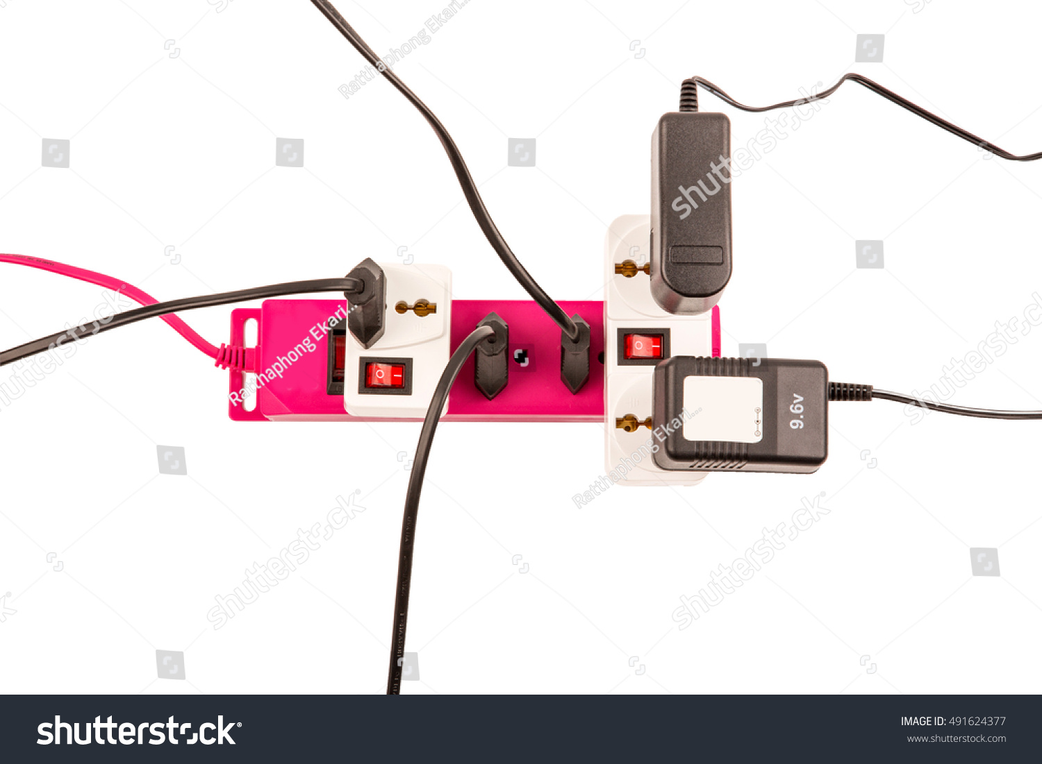 Surge Protector Overloaded Consumers Electric Power Stock Photo Wiring Diagram 96v Of Bar