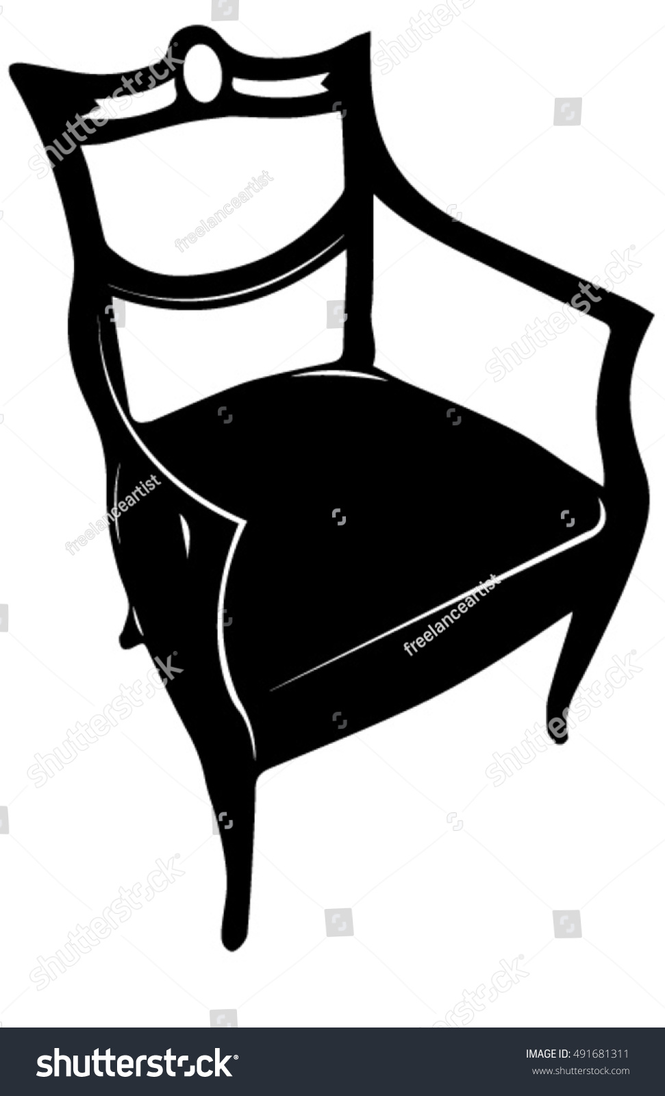 Antique chair silhouette - Antique Chair Silhouette