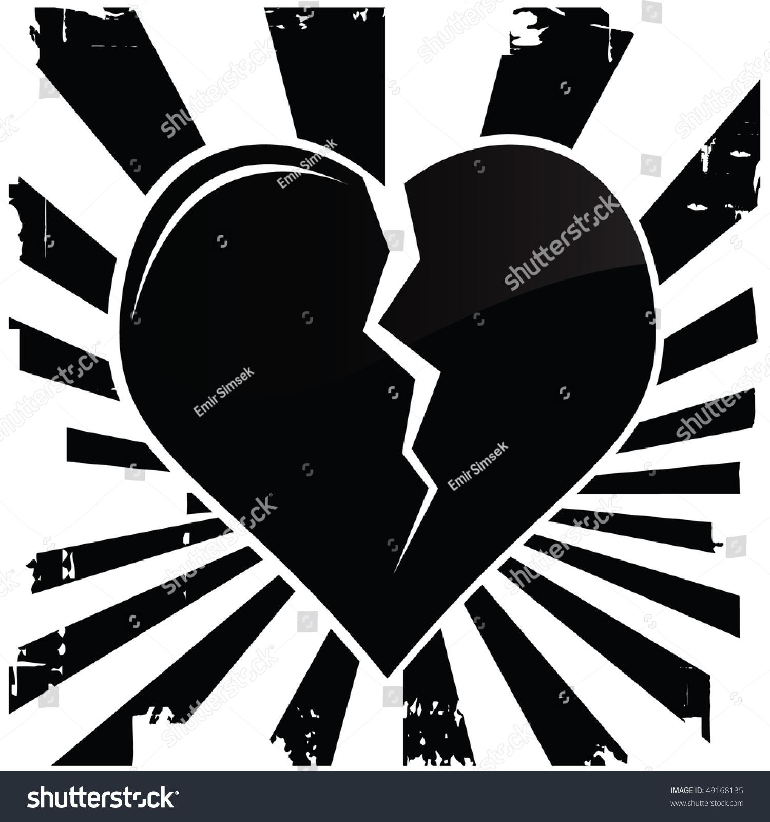 Broken Heart Stock Vector Illustration 49168135 : Shutterstock