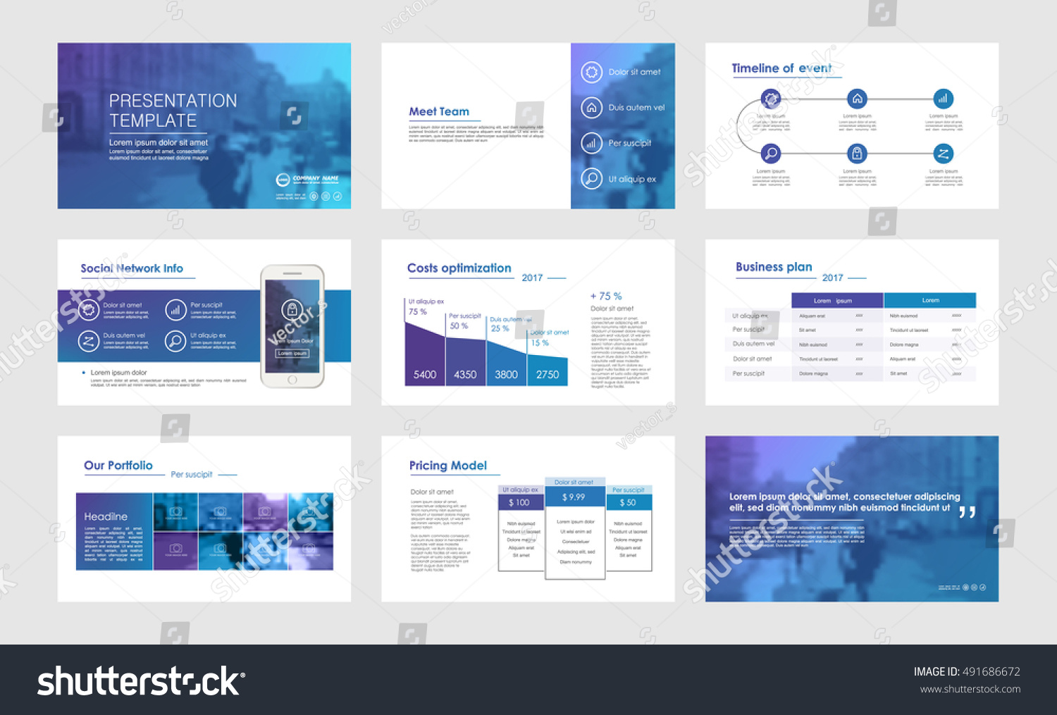 Elements Infographics Presentations Templates Leaflet Annual Stock ...