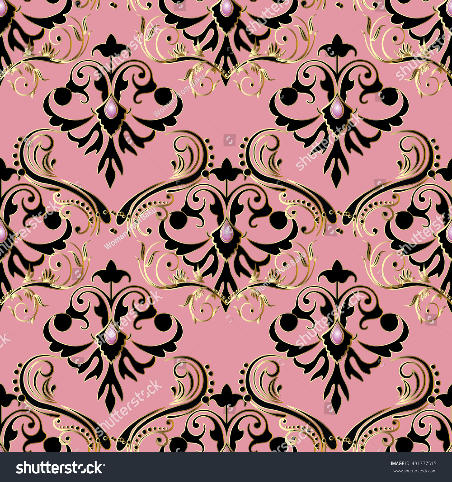 royaltyfree elegant light pink baroque damask� 491777515