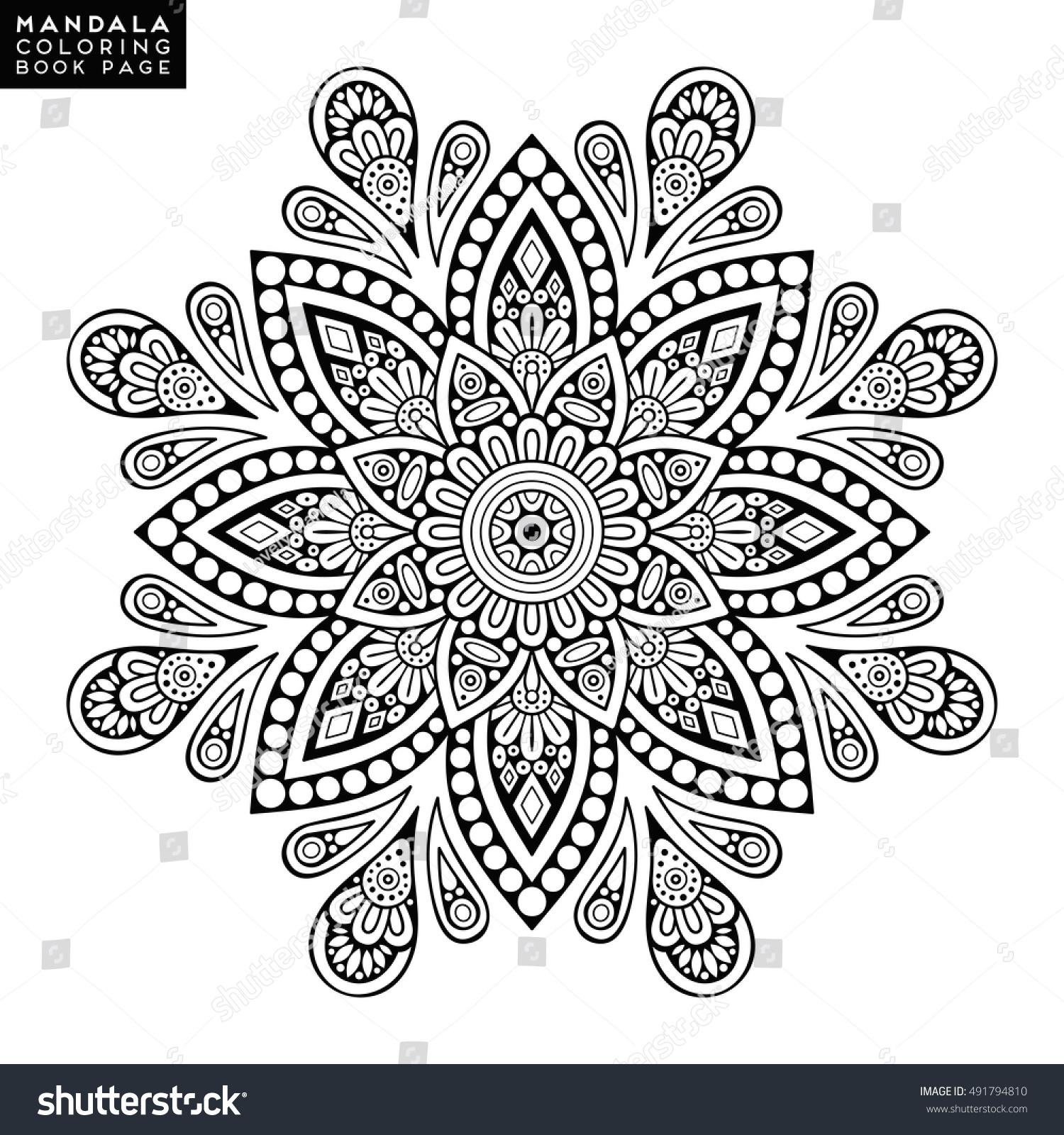 Flower Mandala Vintage Decorative Elements Oriental Stock Vector 491794810