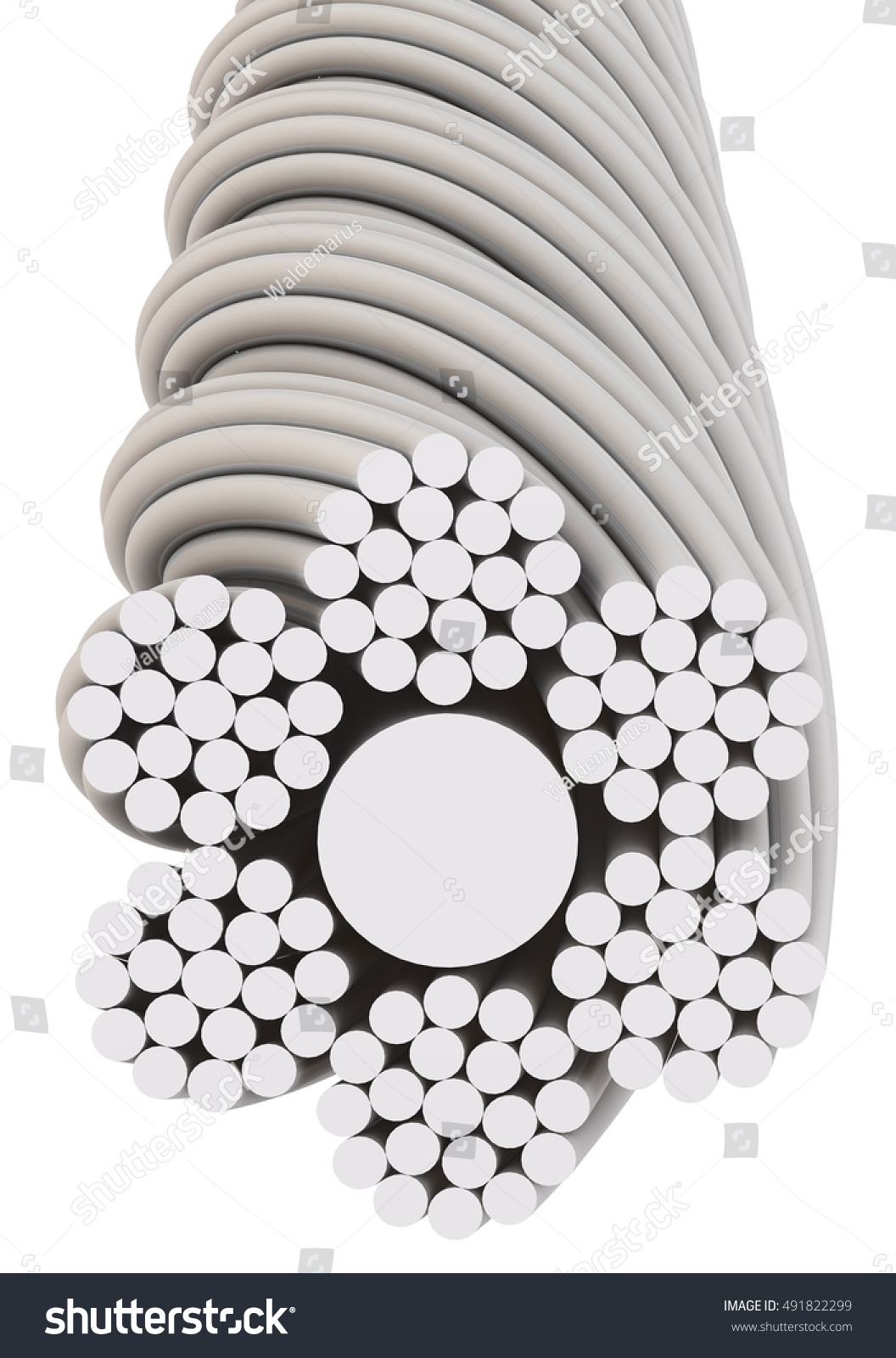 Wire Rope Cross Section Wire Rope Stock Illustration 491822299 ...