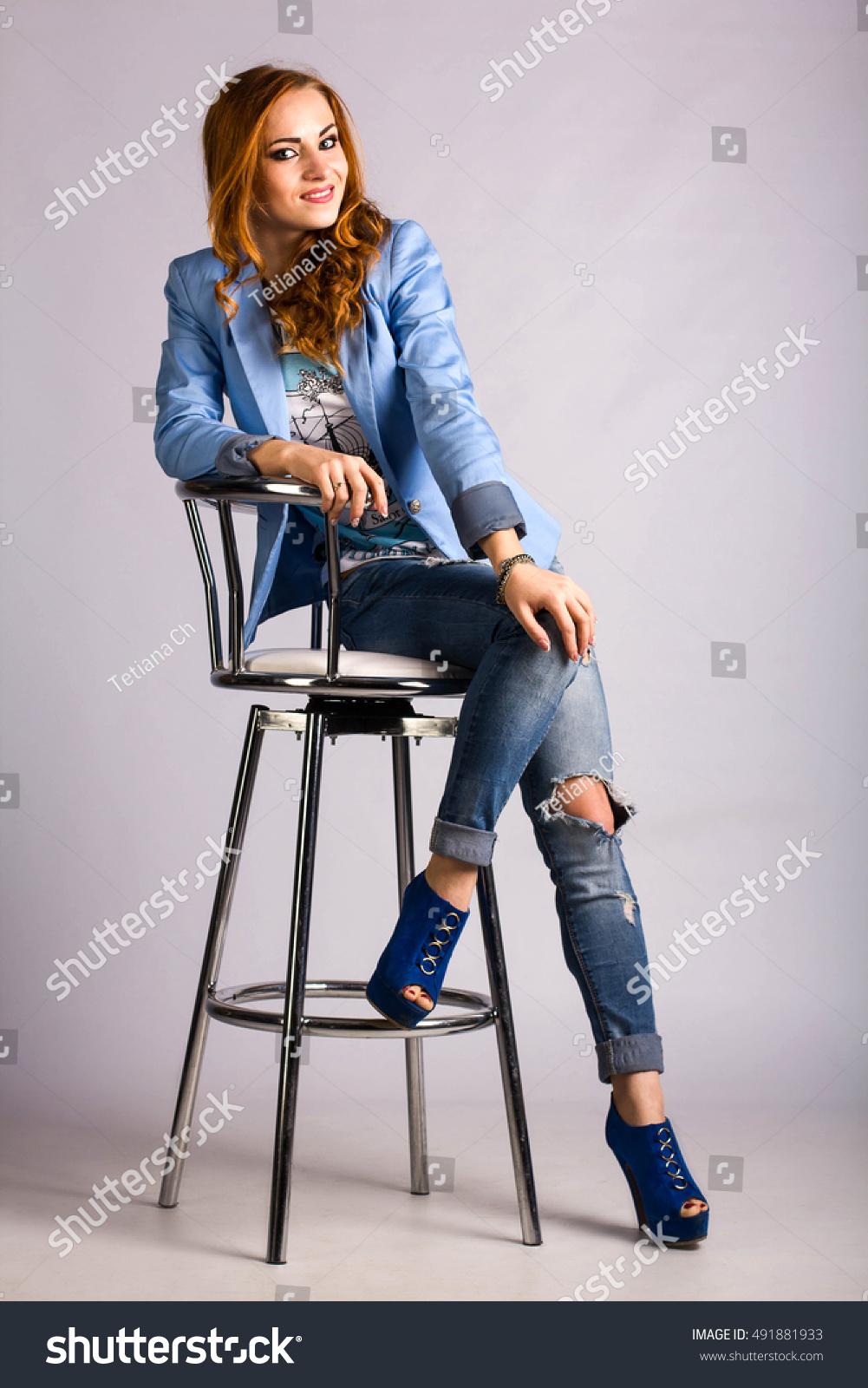 Girl on bar stool like your