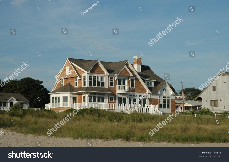 Beach House In Rhode Island Stock Photo 491886 Shutterstock