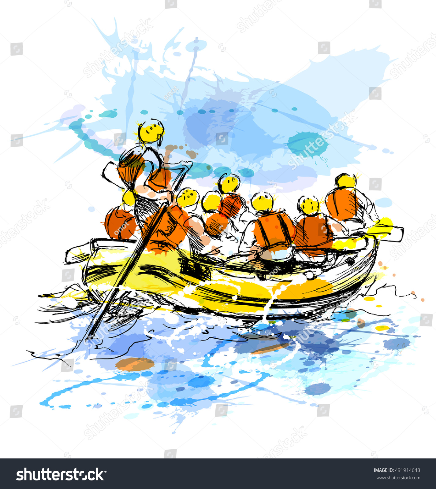 Rafting illustration