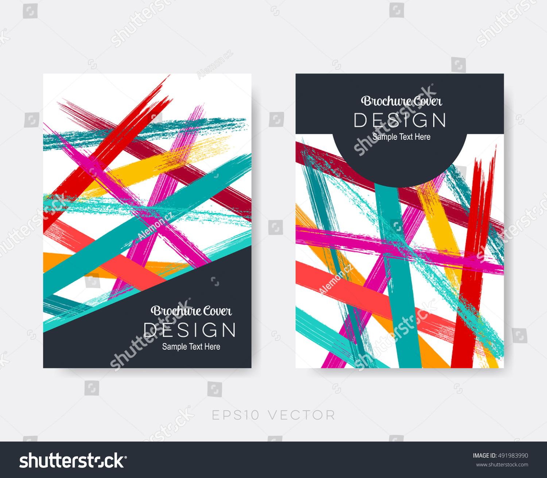 Creative Modern Brochure Design Templates Abstract Stock Vector