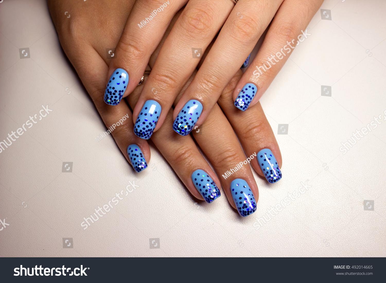 French Manicure Beautiful Manicured Female Hands Stock Photo ...