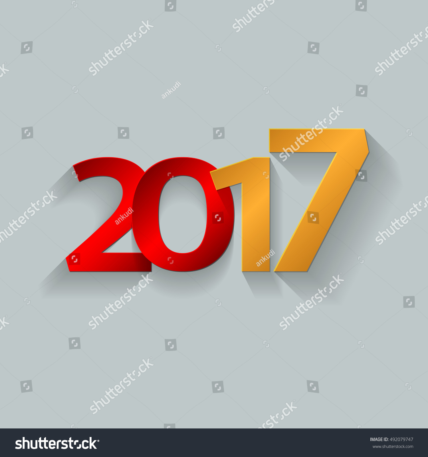 Happy new year 2017 decoration text stock vector 492079747 for A text decoration