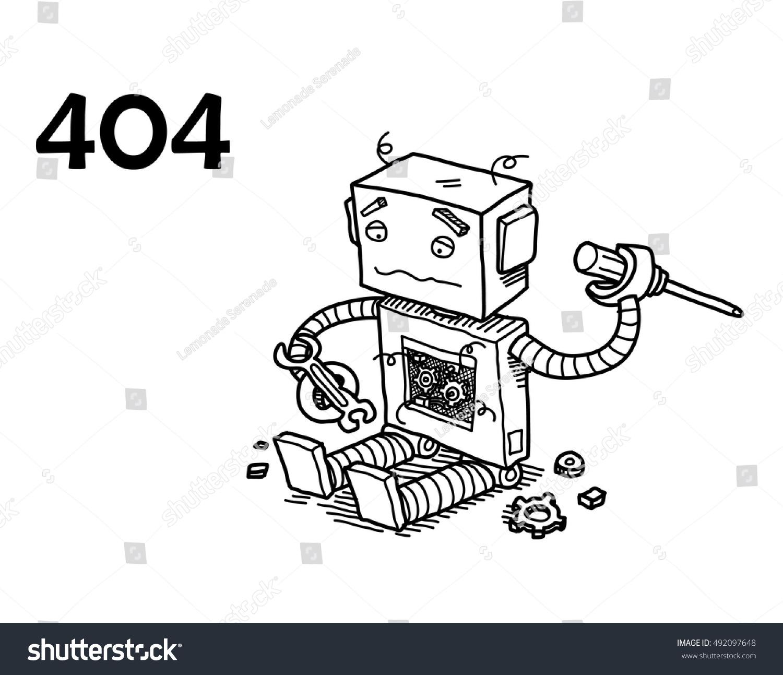 Page Not Found Error 404 Hand Stock Vector 492097648 - Shutterstock