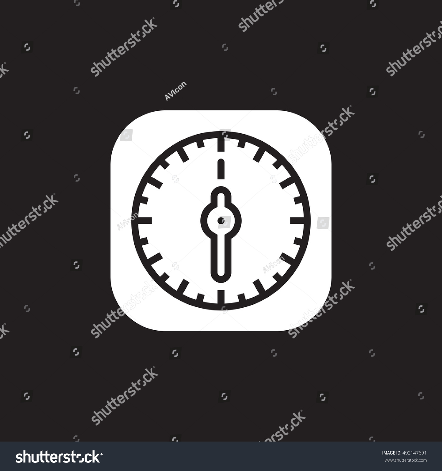 Kitchen Timer Icon Vector Solid Flat Stock Vector 492147691 ...