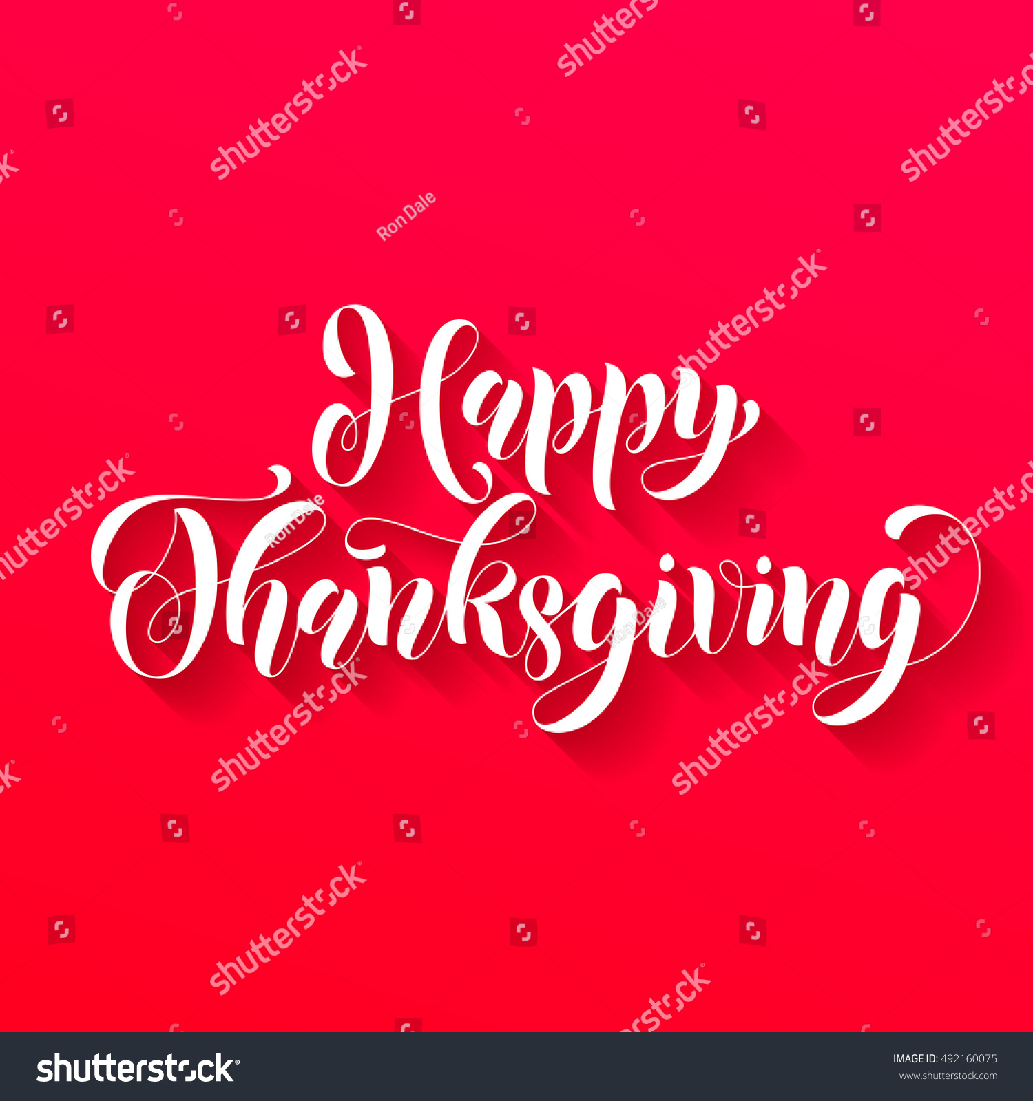 Happy Thanksgiving Greetings Holiday Card Vector Red Ornate