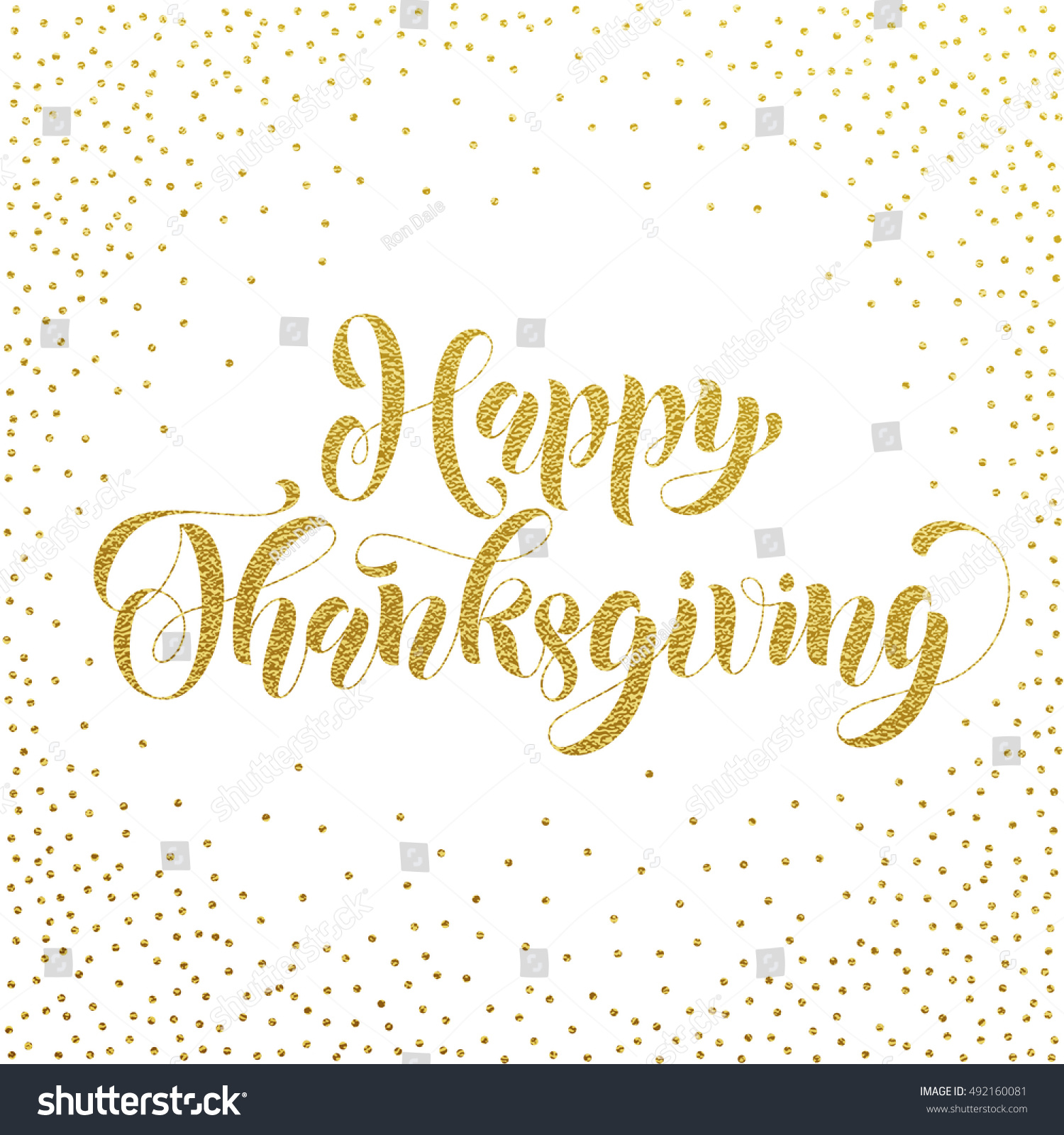 Happy Thanksgiving Greetings Holiday Card Vector Stock Vector