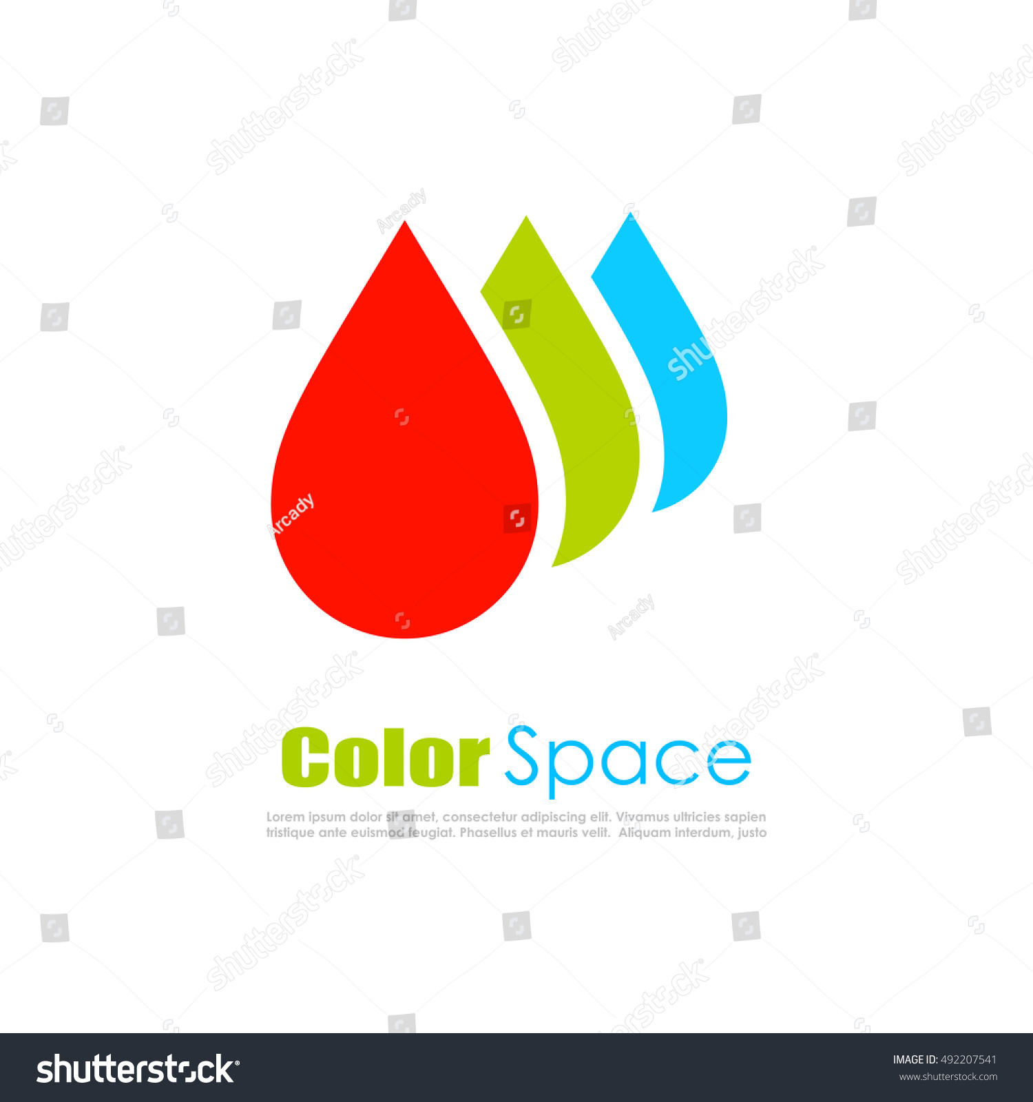 Rgb Color Drops Logo Vector Illustration Isolated On White Background