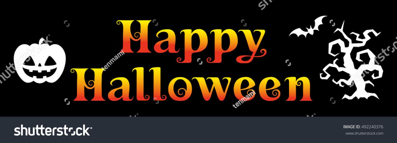 Happy Halloween Logo 5 Stock Vector 492240376 - Shutterstock