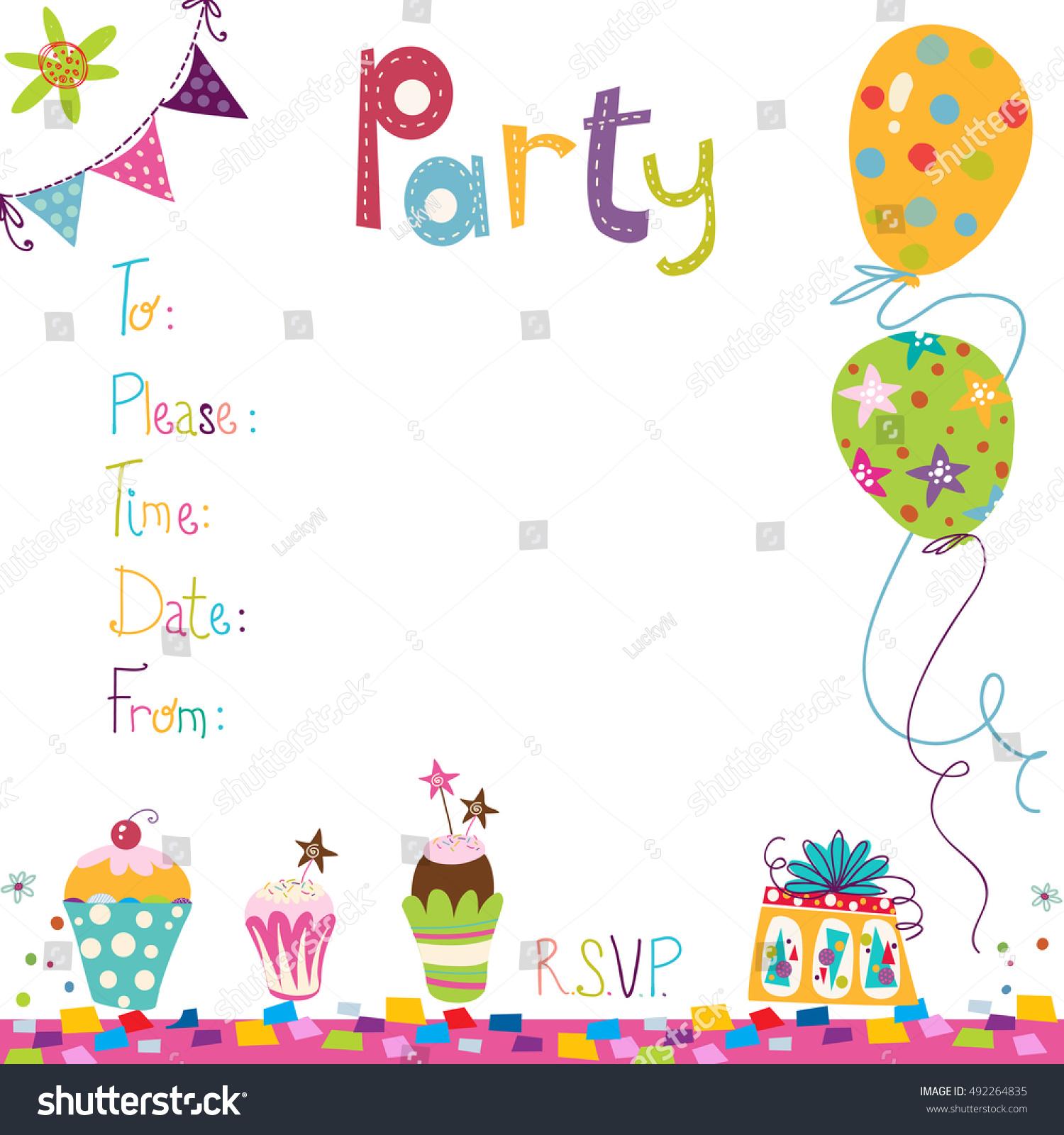 Happy Birthday Invitation Birthday Greeting Card Vector – Happy Birthday Invite