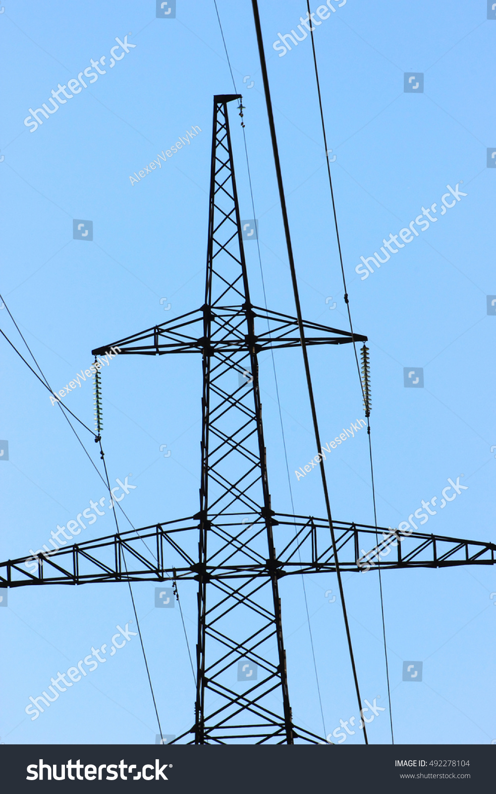 Design High Voltage Power Lines Wires Stock Photo (Royalty Free ...