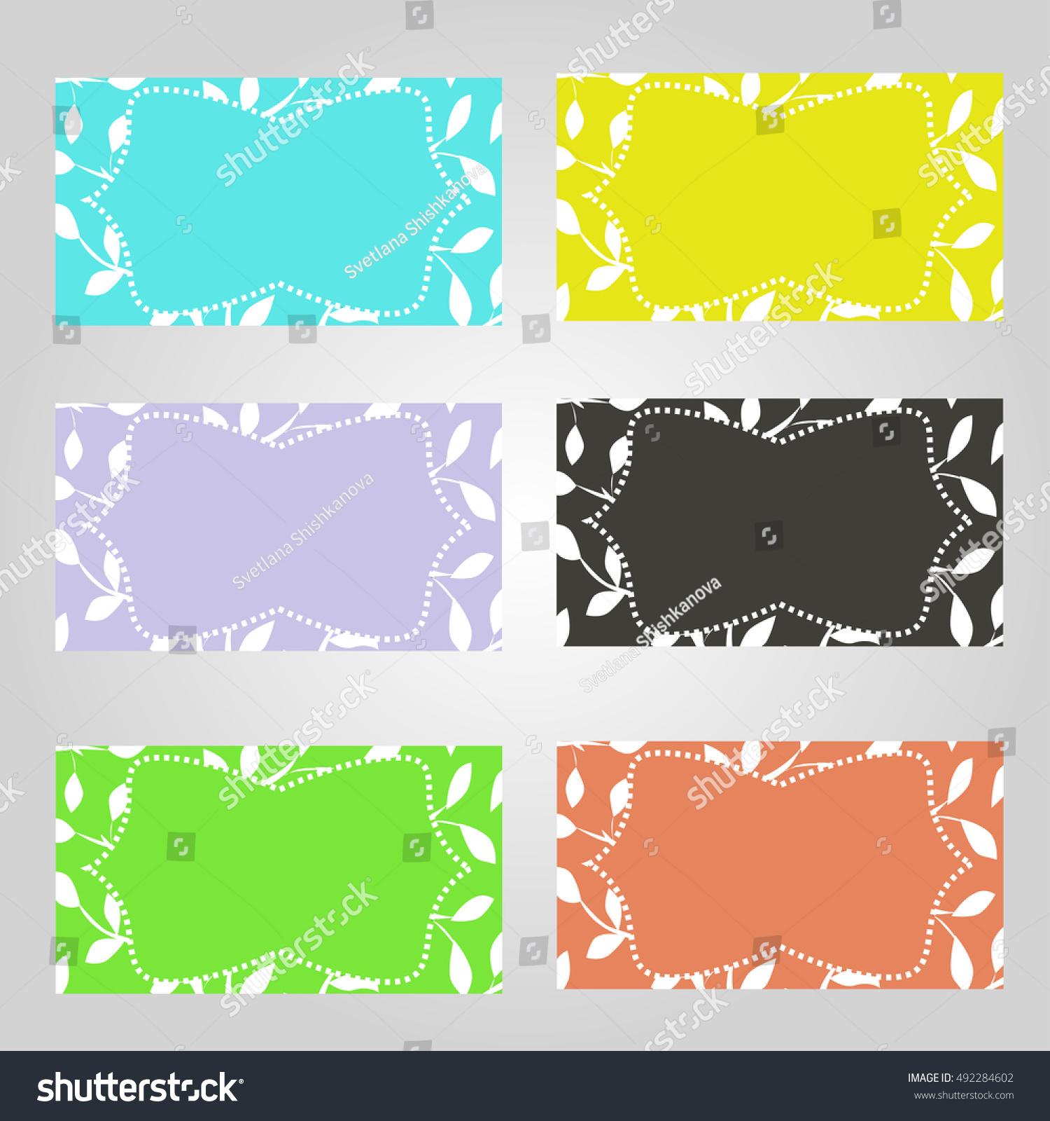 Set Six Horizontal Business Cards Different Stock Illustration ...