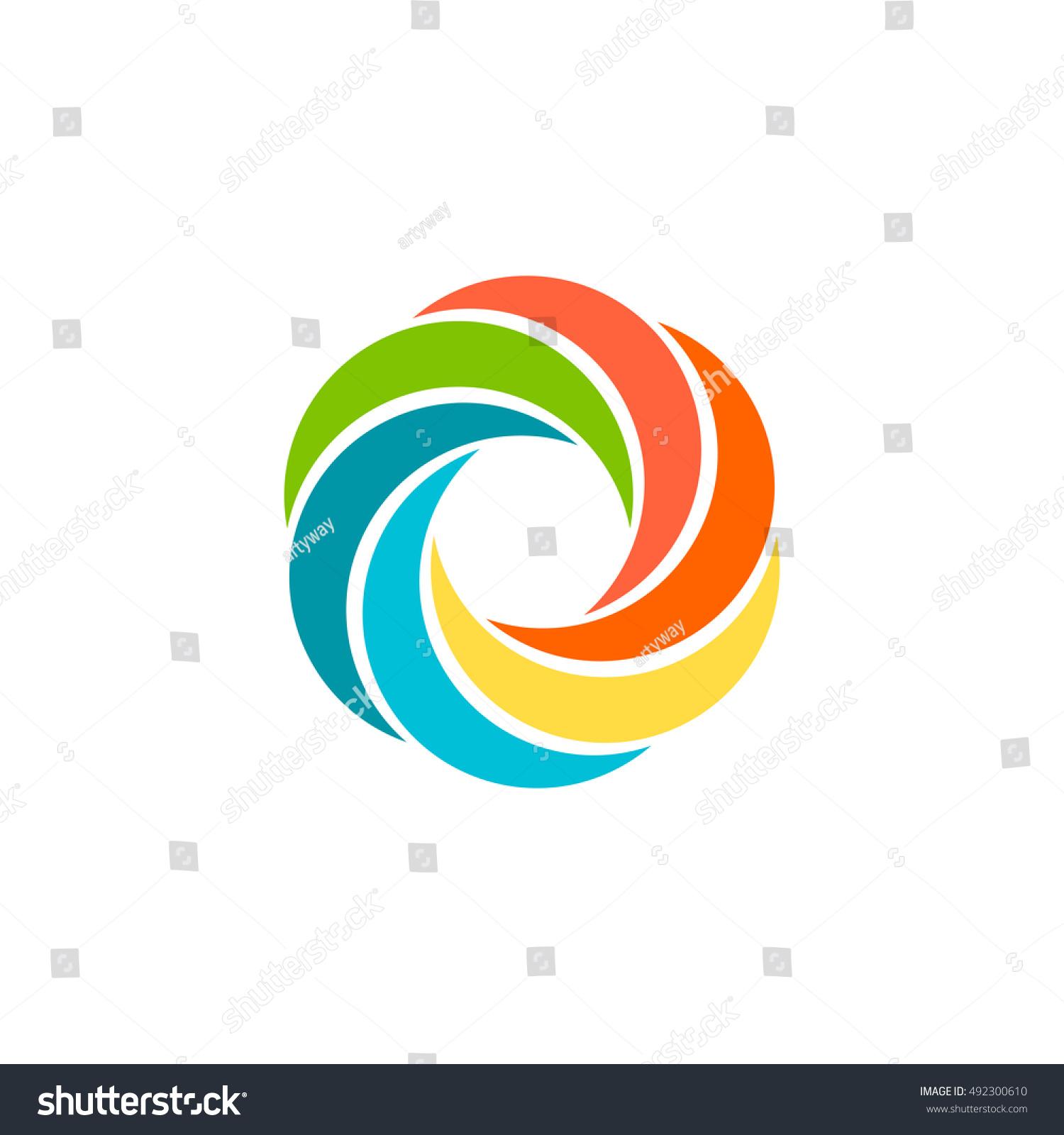 Isolated abstract colorful circular sun logo stock vector 492300610 isolated abstract colorful circular sun logo round shape rainbow logotype swirl tornado and buycottarizona Images