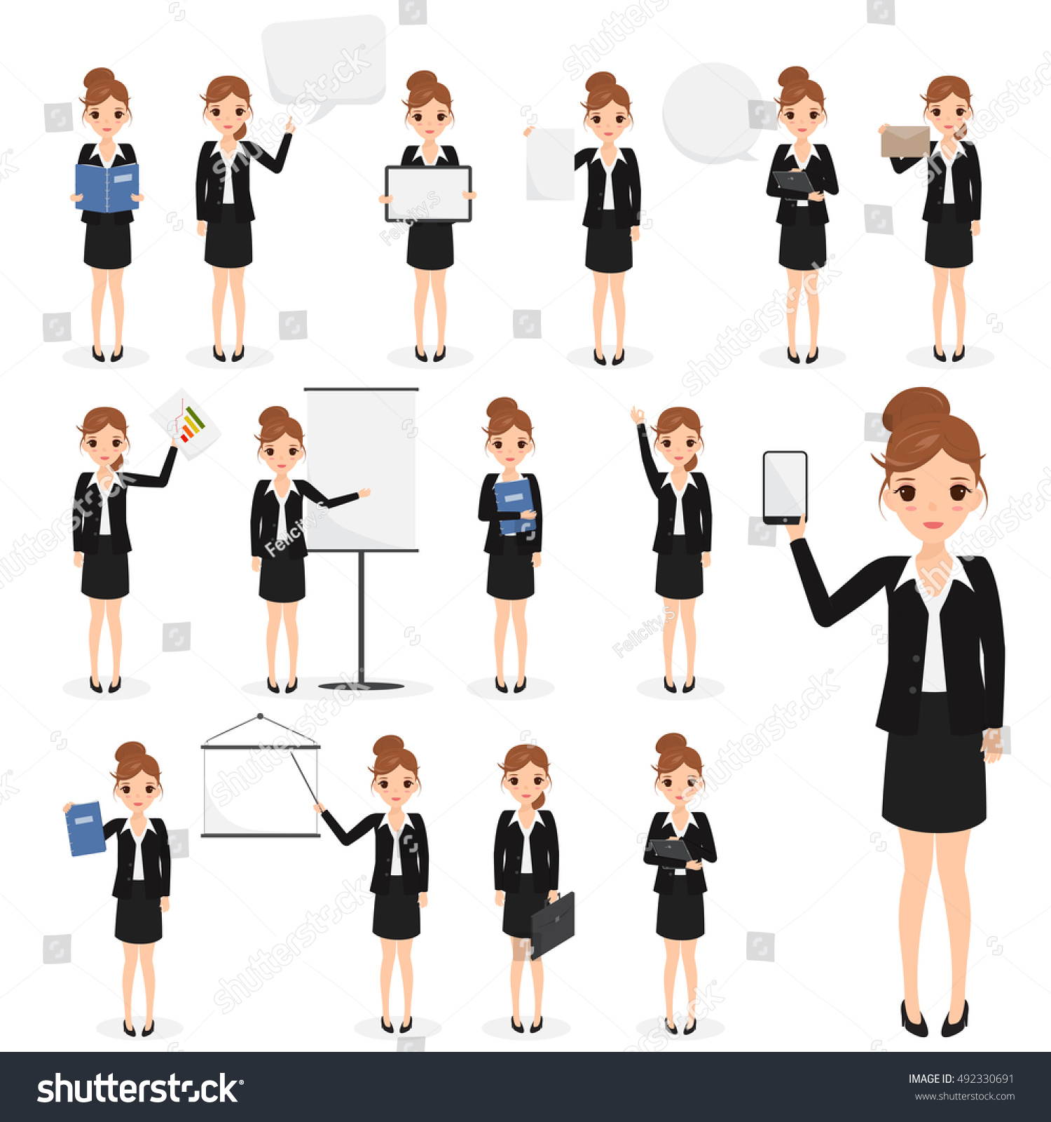 Character Design Job Openings : Business woman character in job at office desk vector