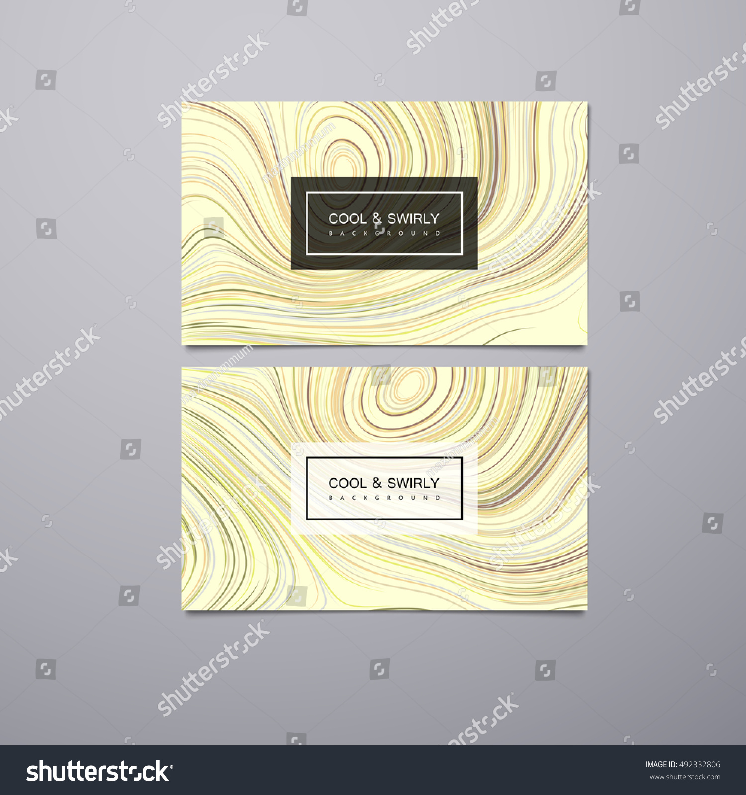 Greeting Invitation Business Gift Cards Design Stock Vector ...