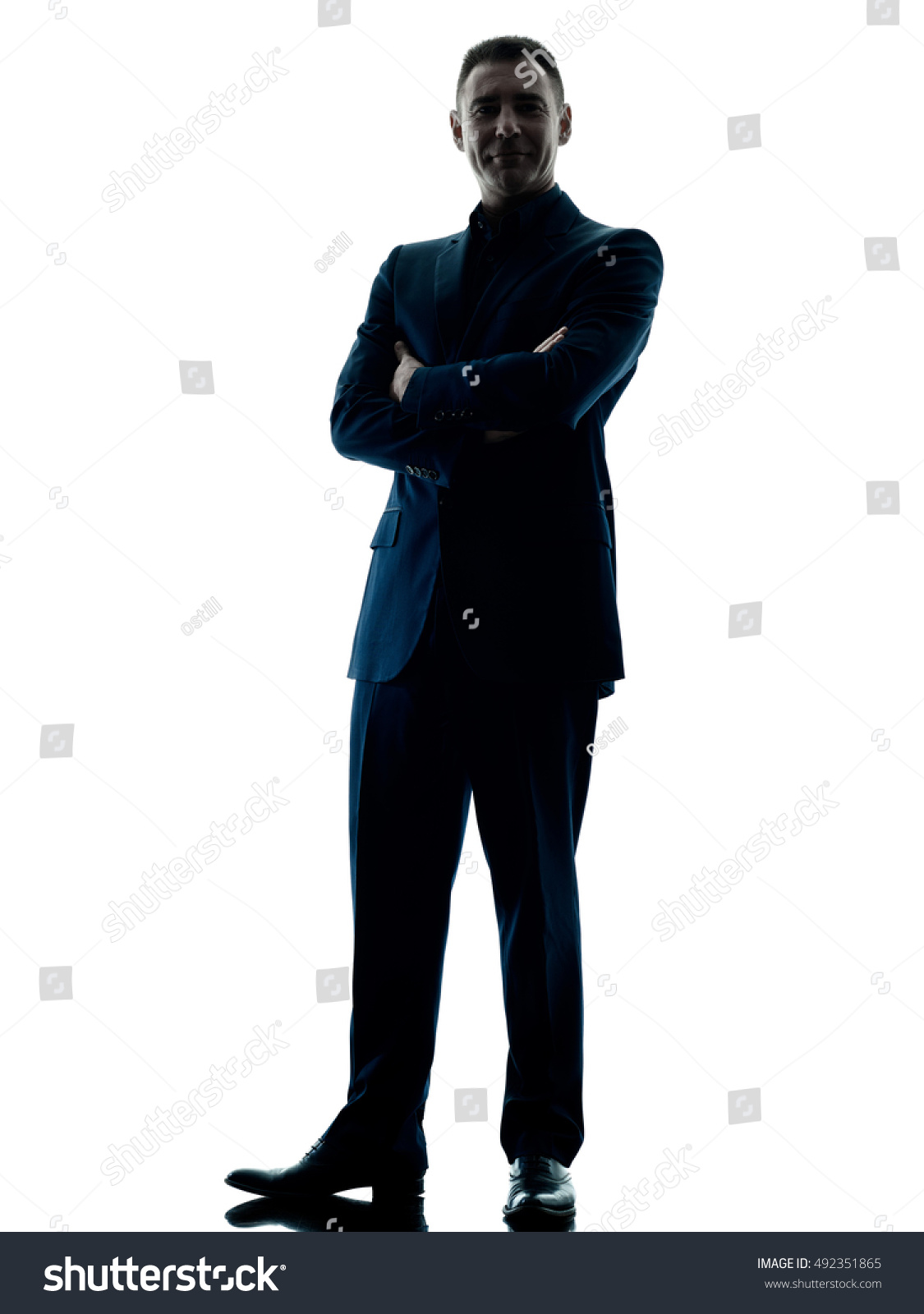 Business Man Standing Silhouette Isolated Stock Photo ...