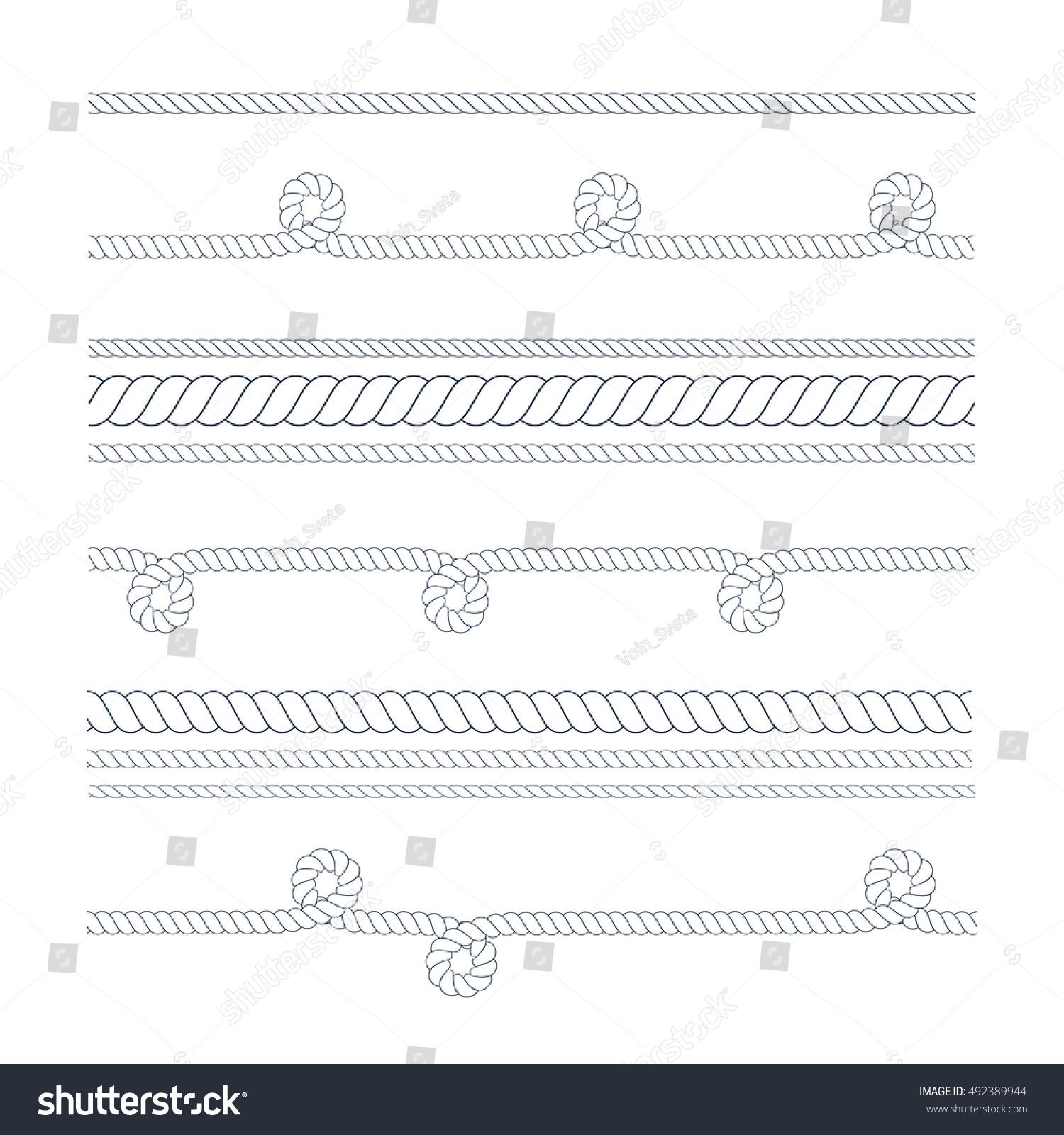 Nautical Rope Border Vector