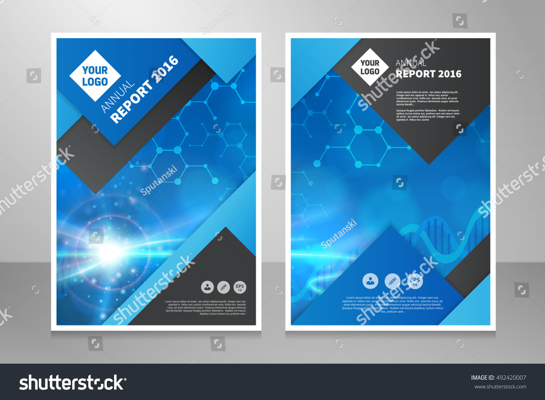 book report brochure template - modern annual report brochure book vector stock vector