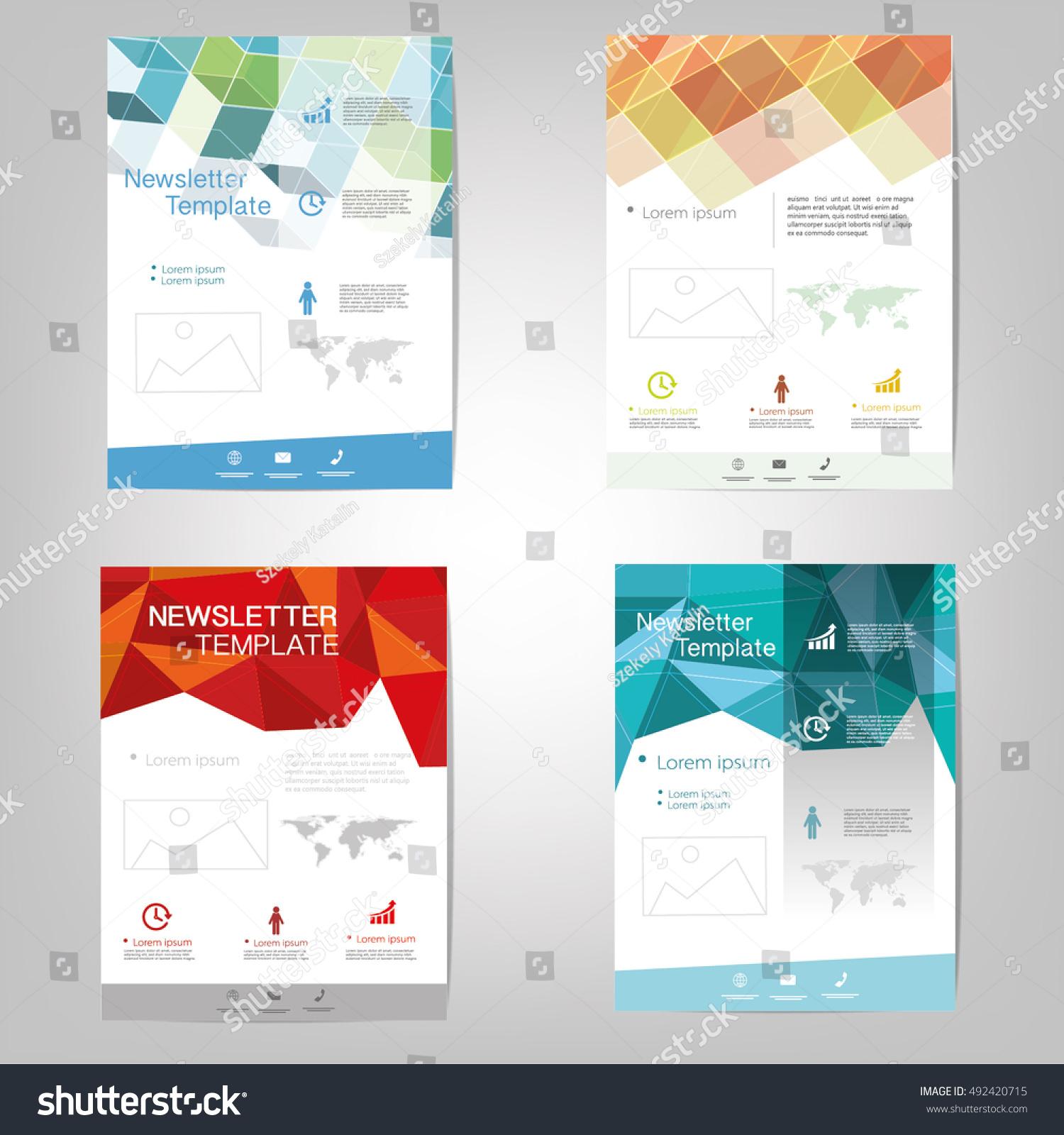 vector newsletter design templates stock vector royalty free