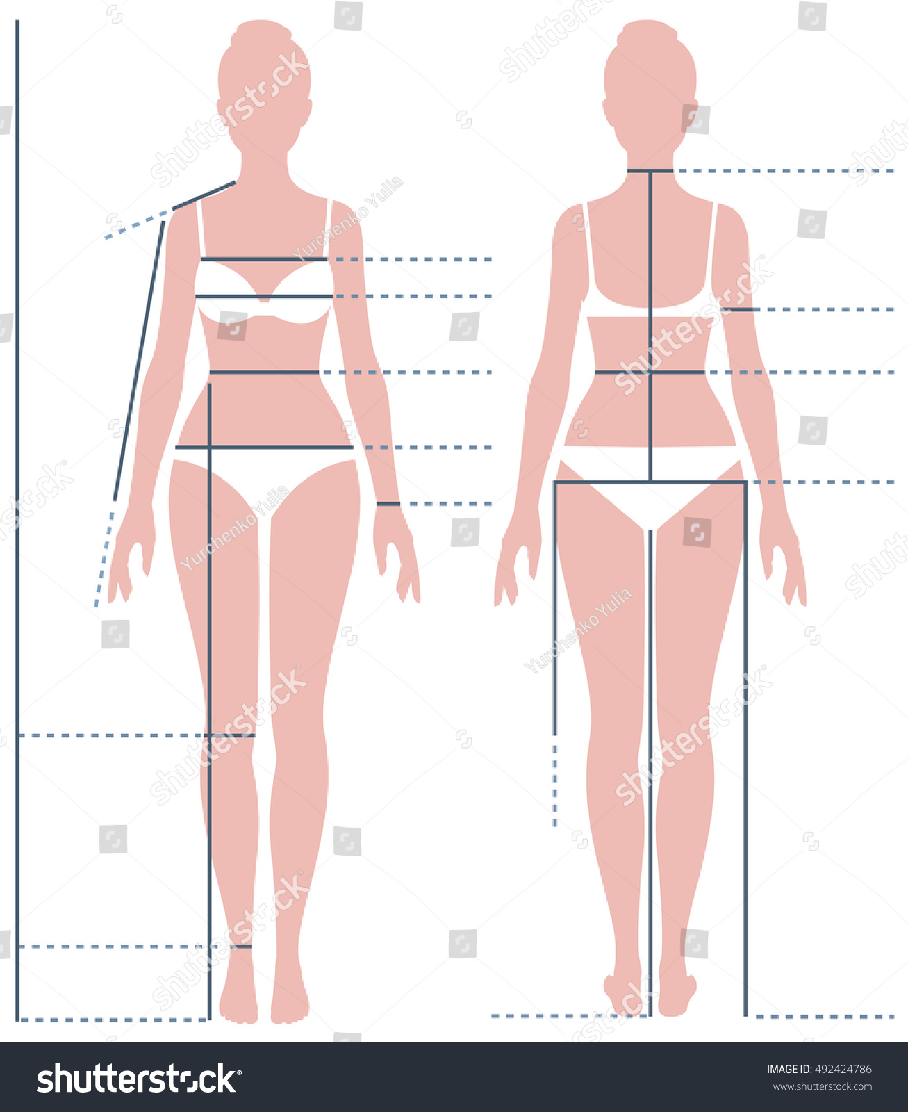 Perfect Female Body Measurements – Body Shape. The shape of your body at the present moment is derived your genetics, eating habits and daily activities such as working out. Your genes set a path for the type of body shape you will have, however, if need be, you can reconstruct it to very favorable extent to get the body shape you desire.