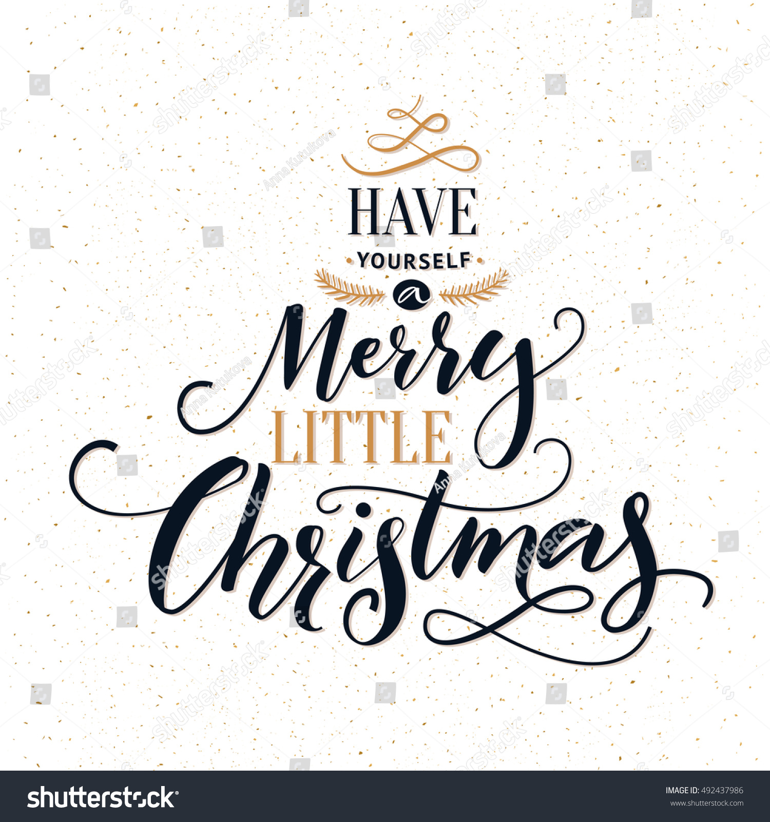 Have Yourself Merry Little Christmas Typography Stock Vector ...