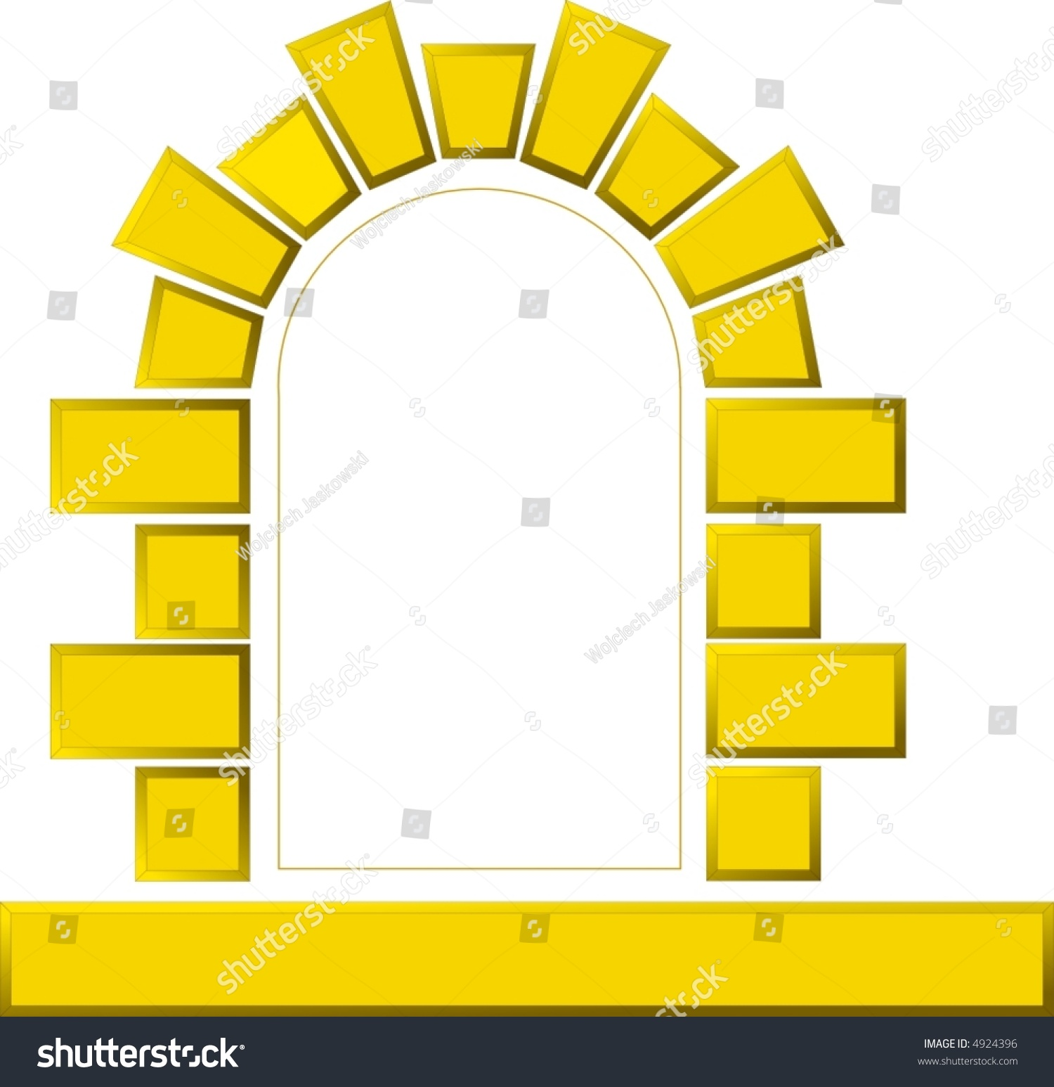 Vector Image Window Made Stones Wall Stock Vector 4924396 - Shutterstock