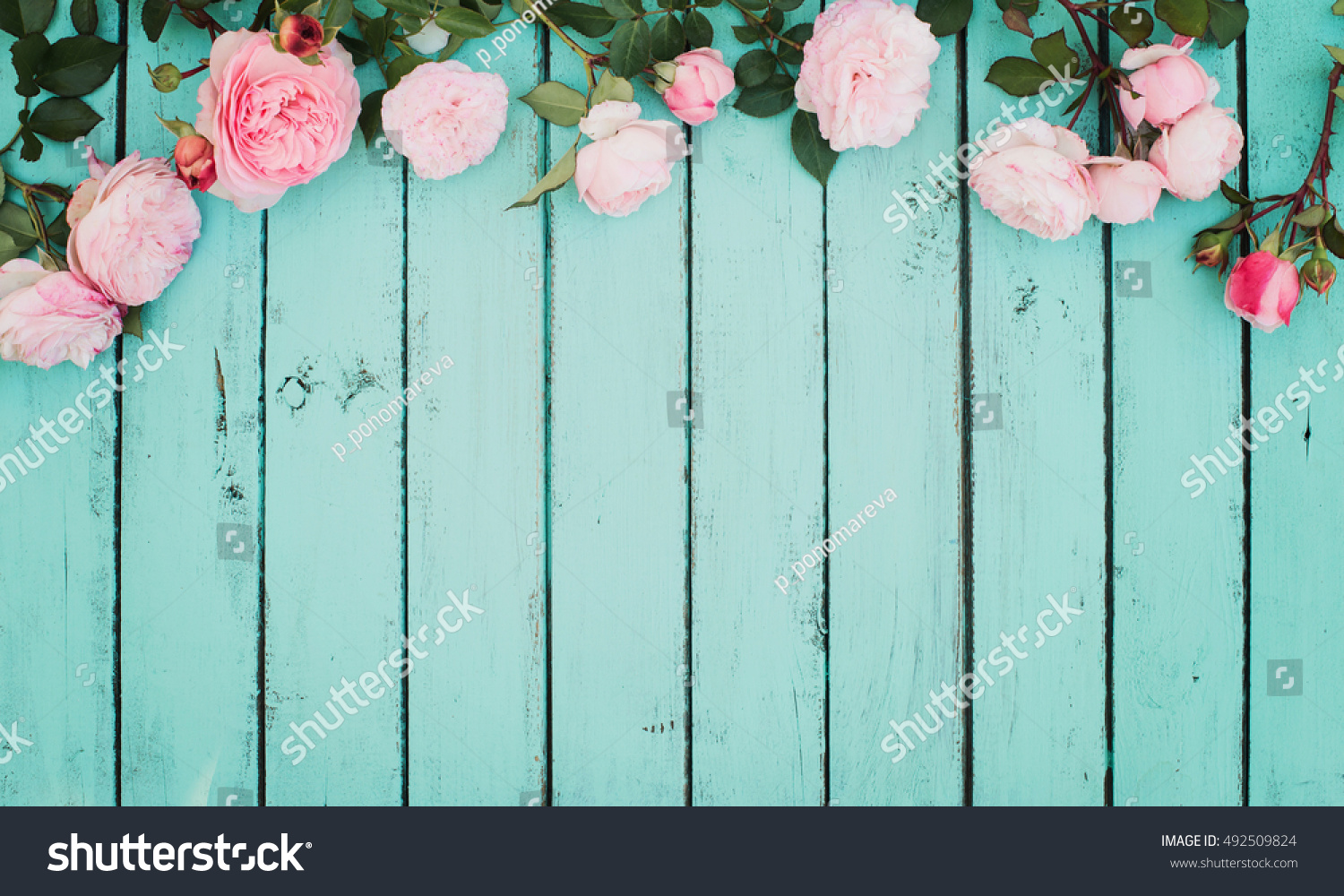 Shabby Chic Vintage Floral Background Roses Stock Photo Edit Now