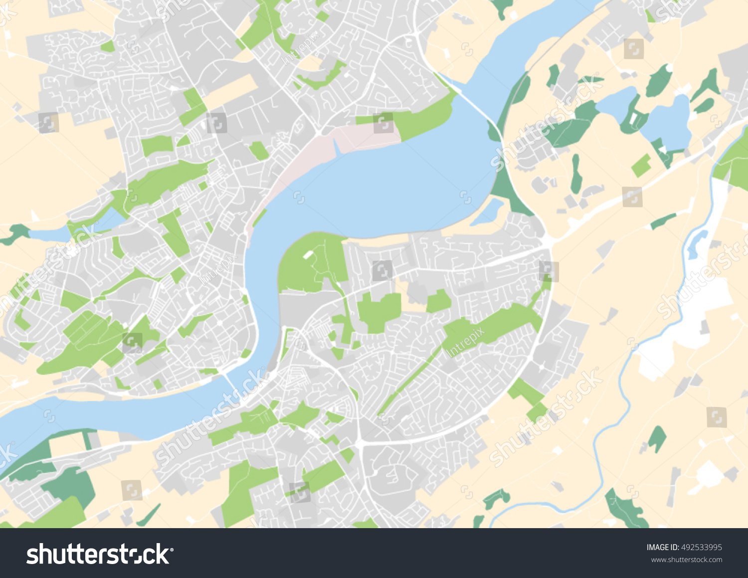Vector City Map Derry Londonderry Northern Stock Vector 492533995