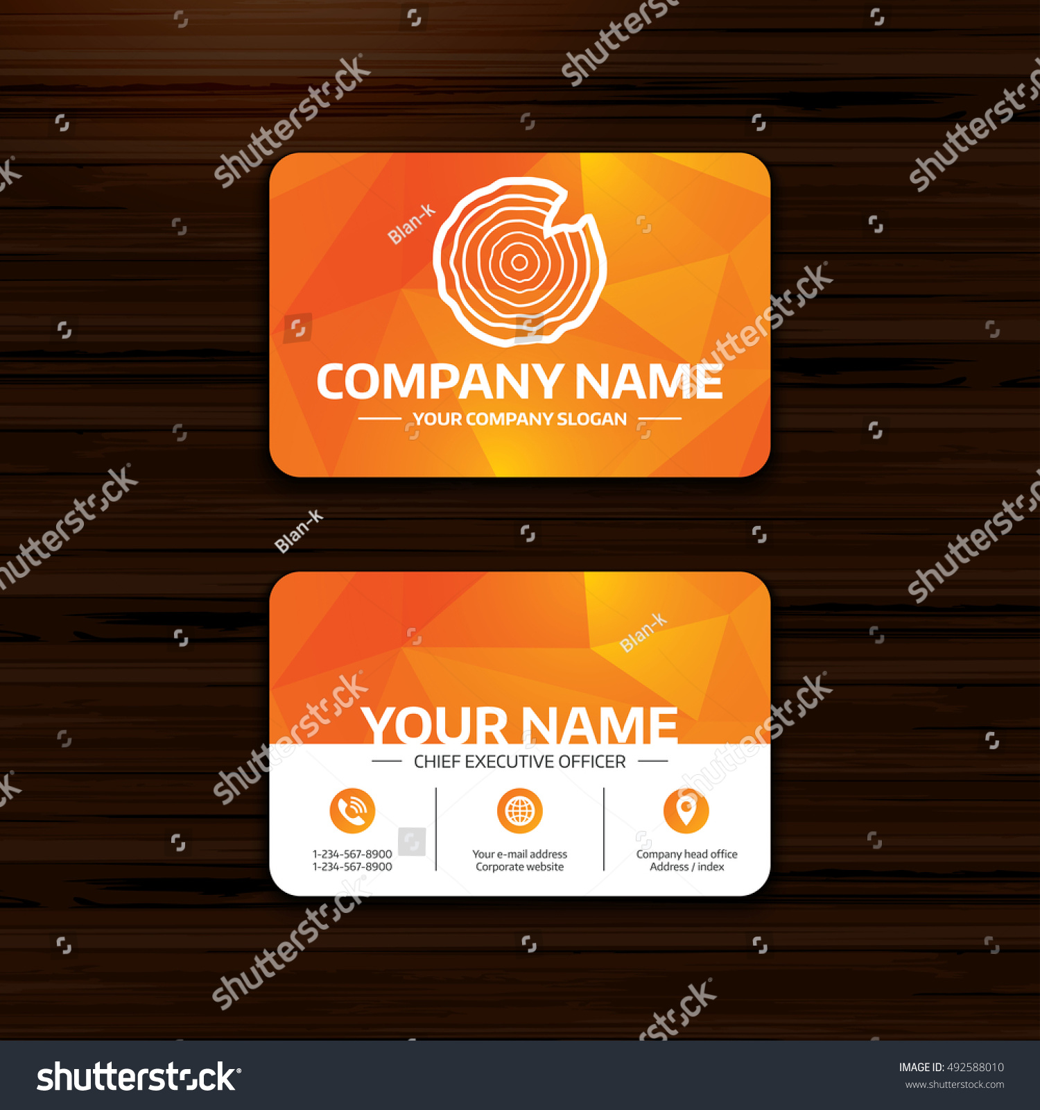 Business visiting card template wood sign stock vector 492588010 business or visiting card template wood sign icon tree growth rings tree trunk reheart Choice Image