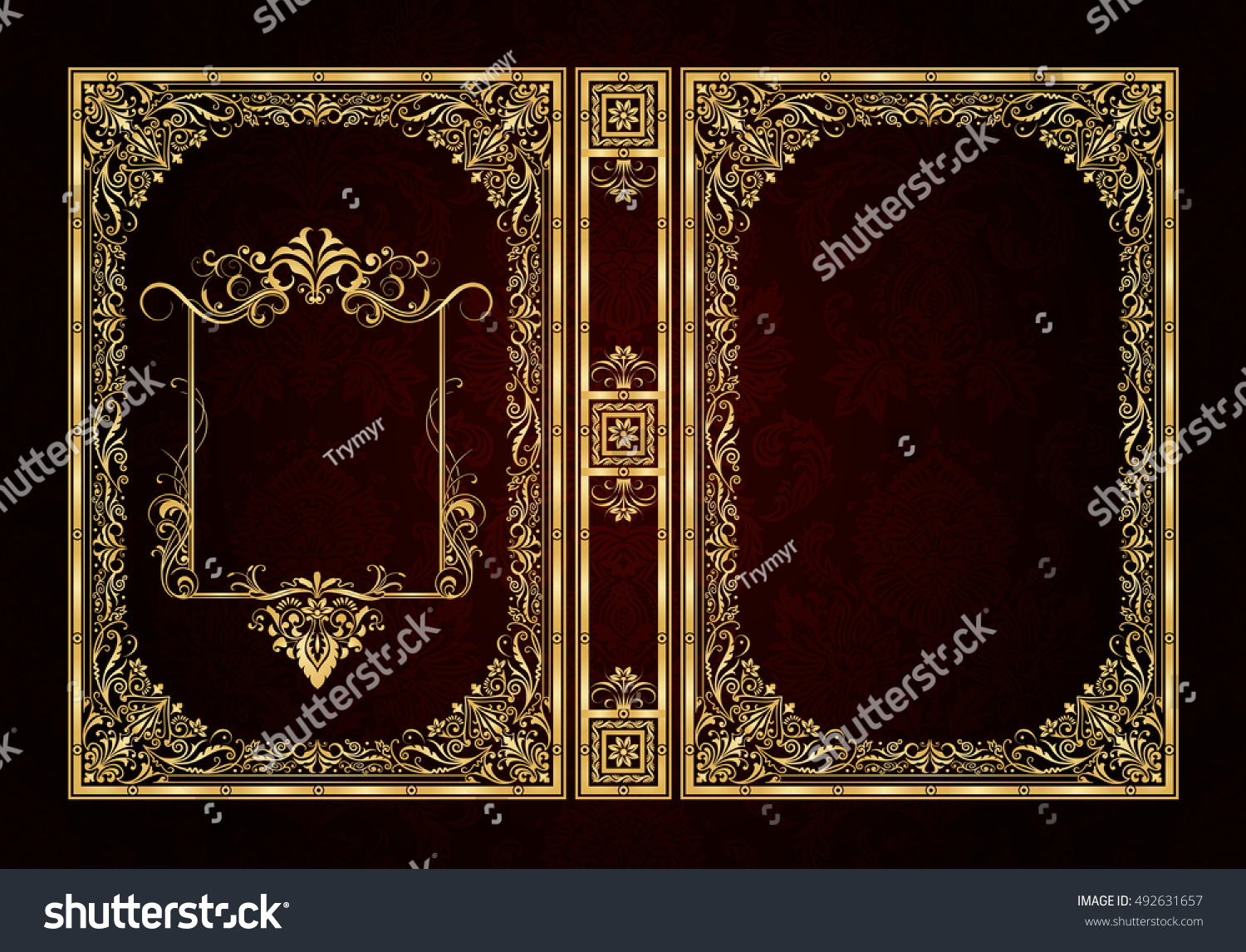 Cool Book Cover Vector : Vector classical book cover decorative vintage stock