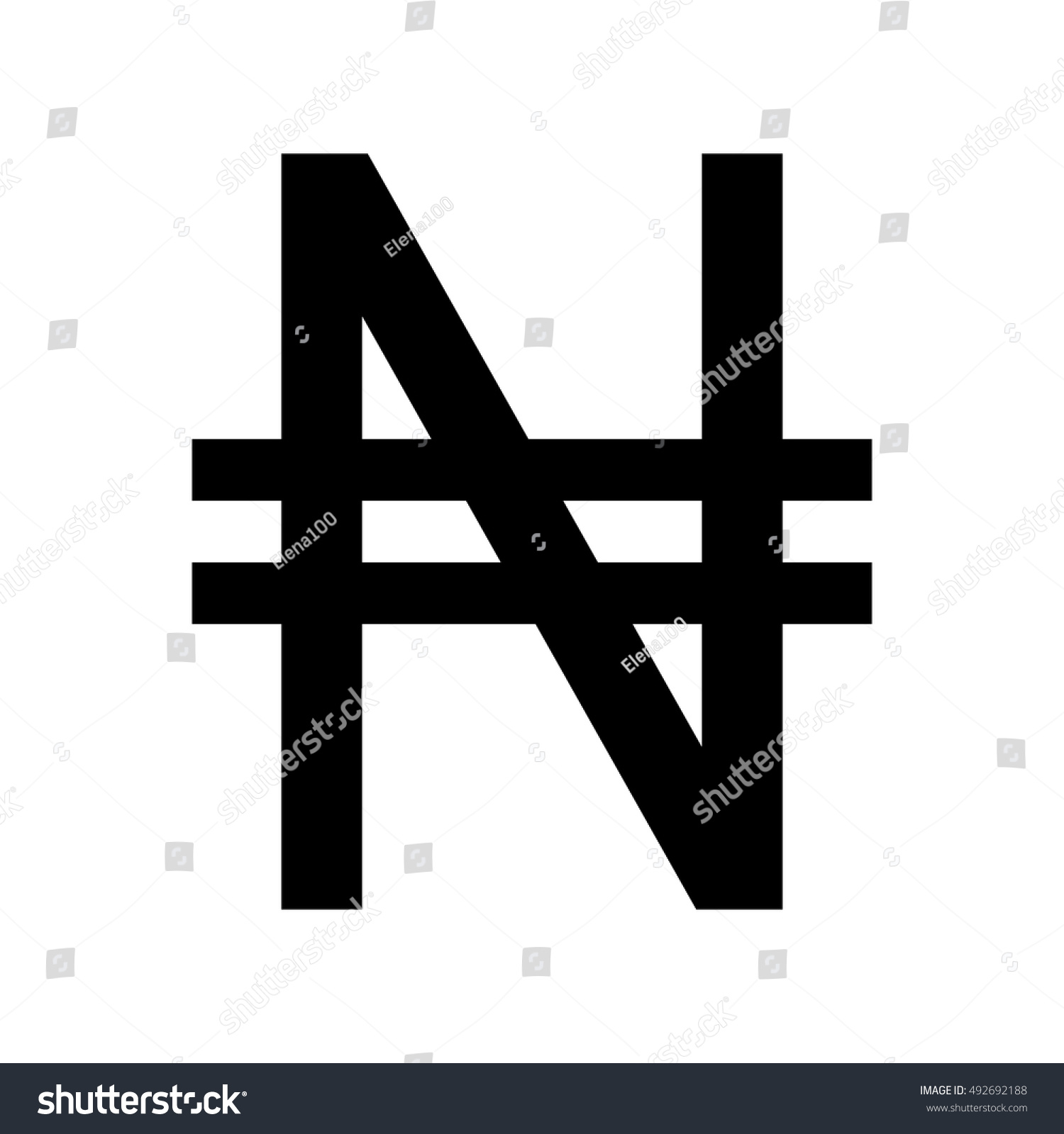 Nigerian Naira Currency Symbol Stock Vector Royalty Free 492692188