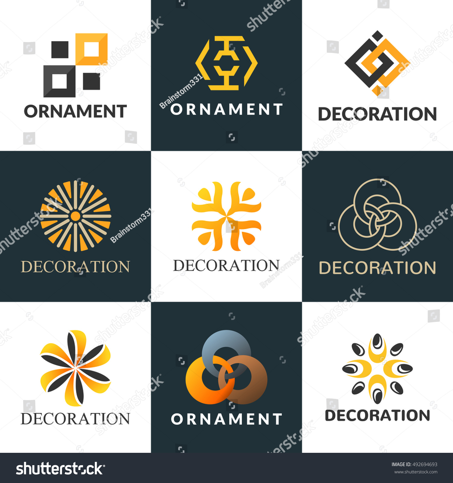 Collection Logos Interior Decoration Logo Interior Stock ...