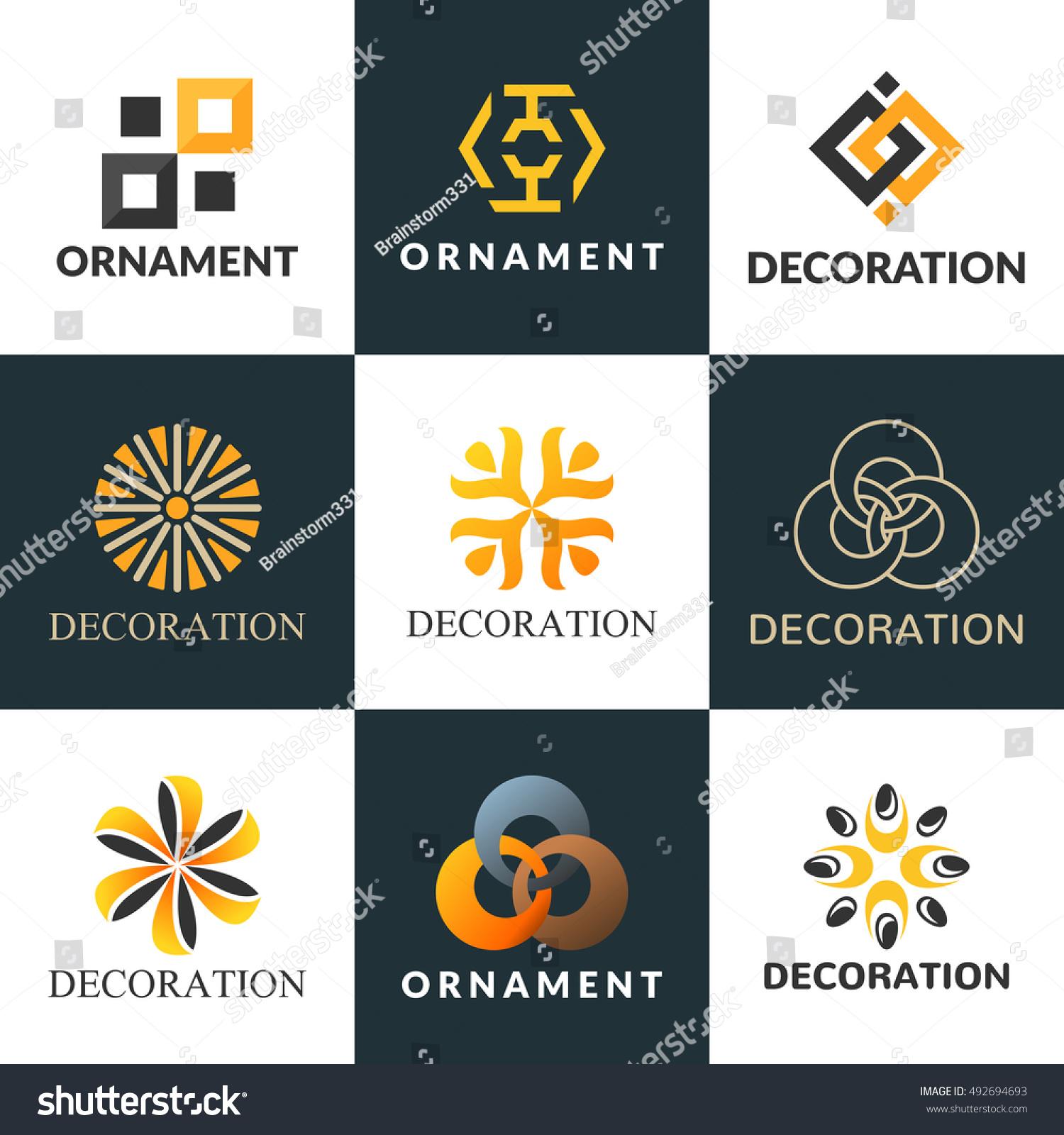 Collection Logos Interior Decoration Logo Interior Stock ...