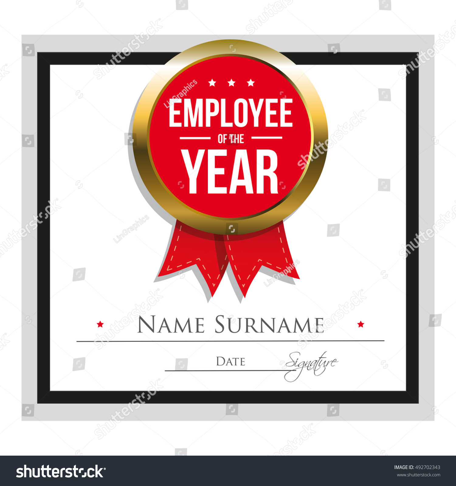 Employee Of The Year Certificate Template  Best Employee Certificate Sample