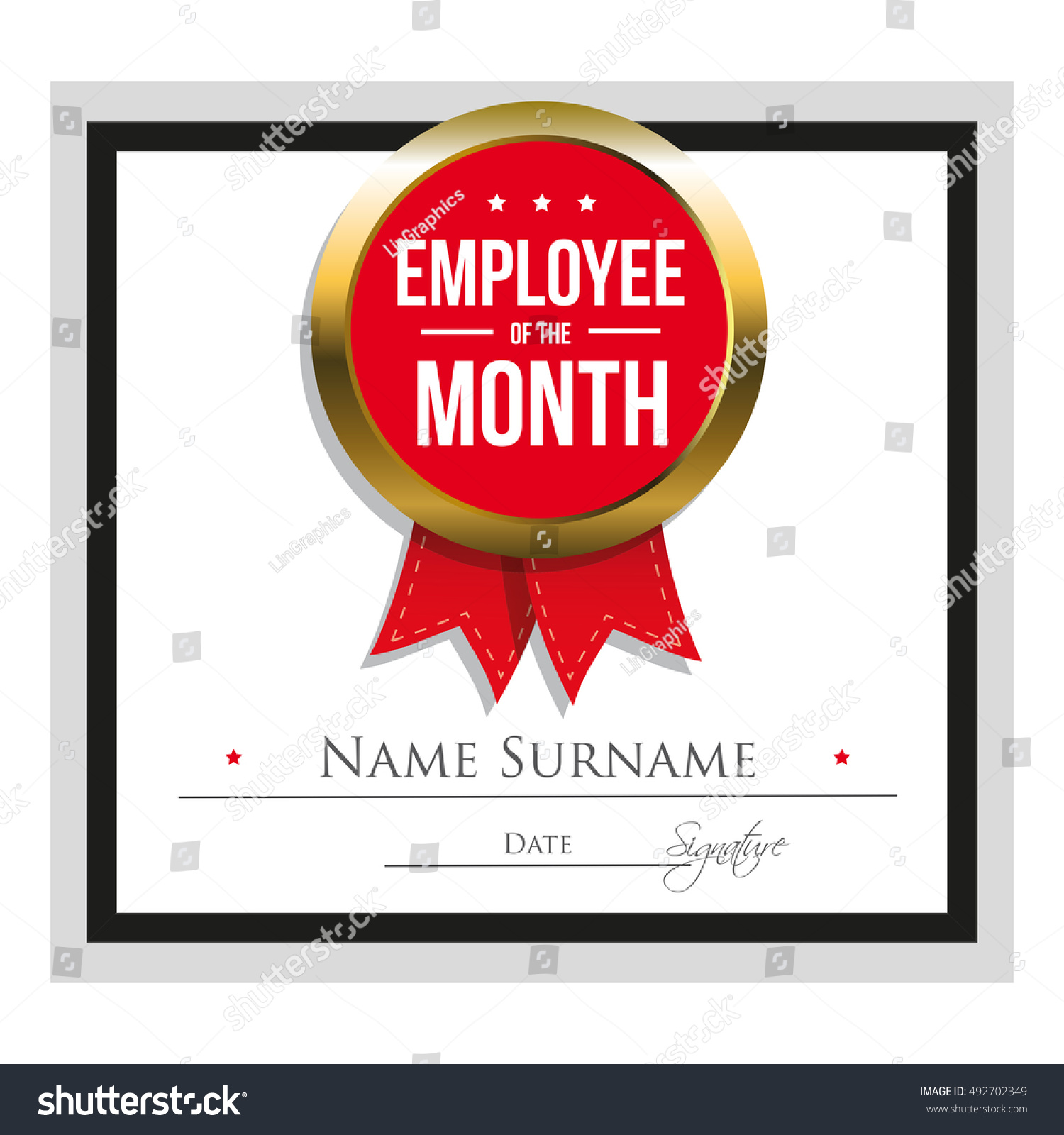 free employee month certificate template