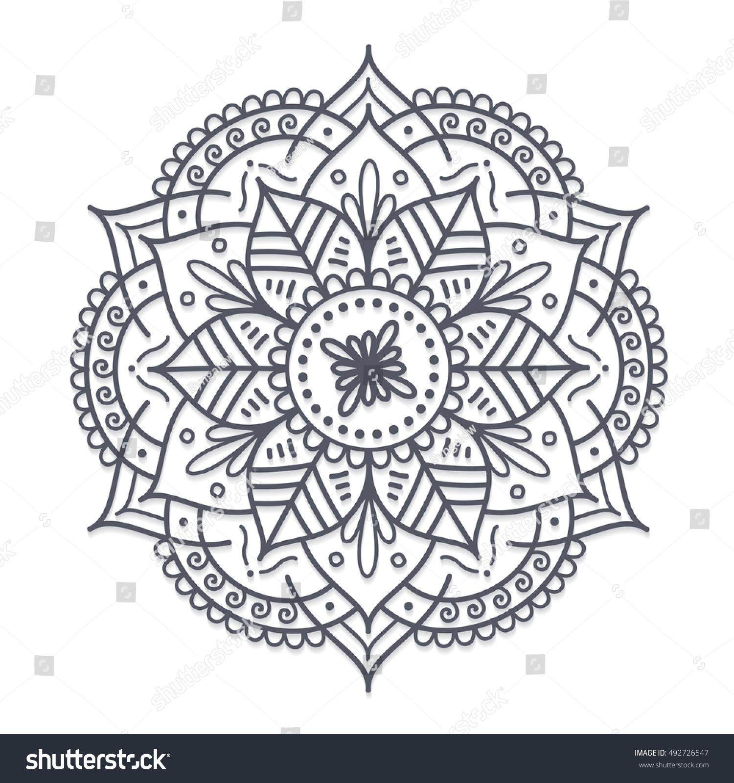 Henna Tattoo Vector: Vector Henna Flower Tattoo Mandala Mehndi Stock Vector