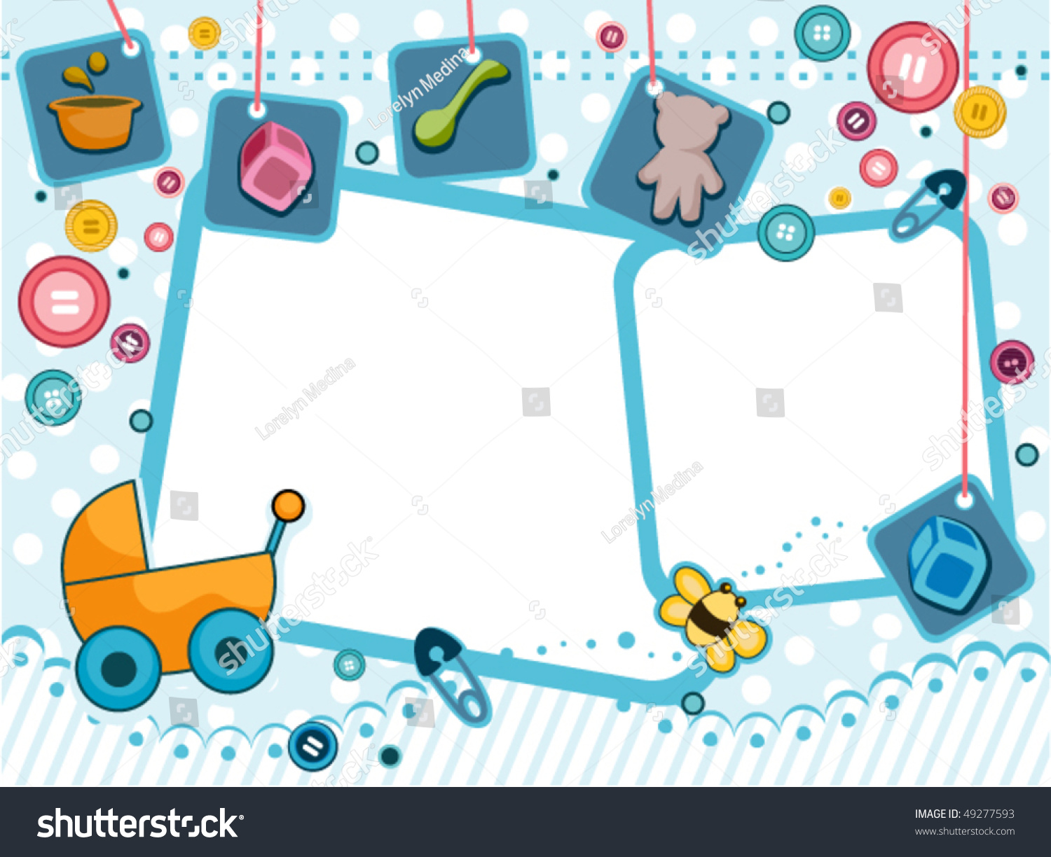baby frame design vector