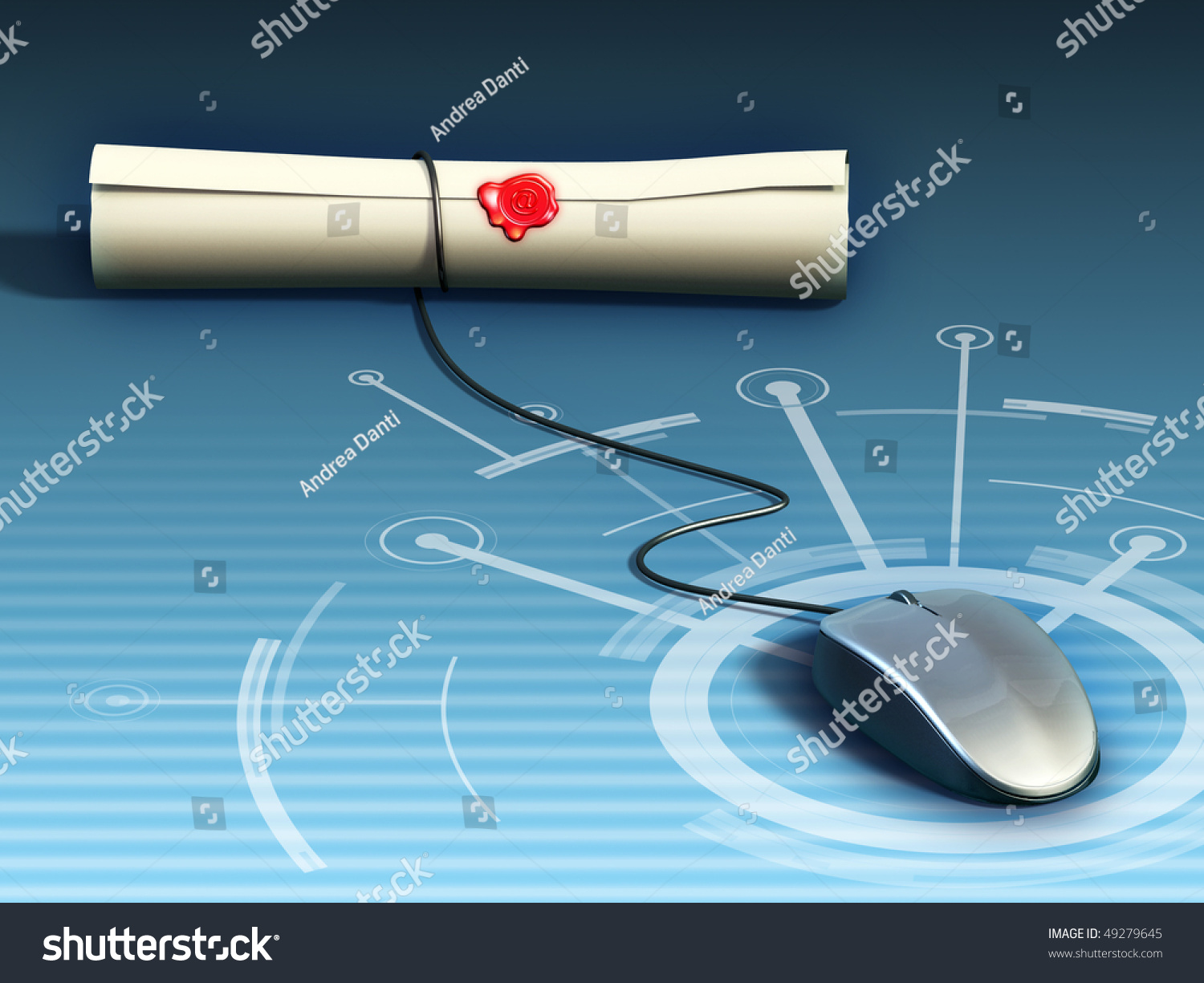 Conceptual Image Showing Mouse Whose Wire Stock Illustration ...