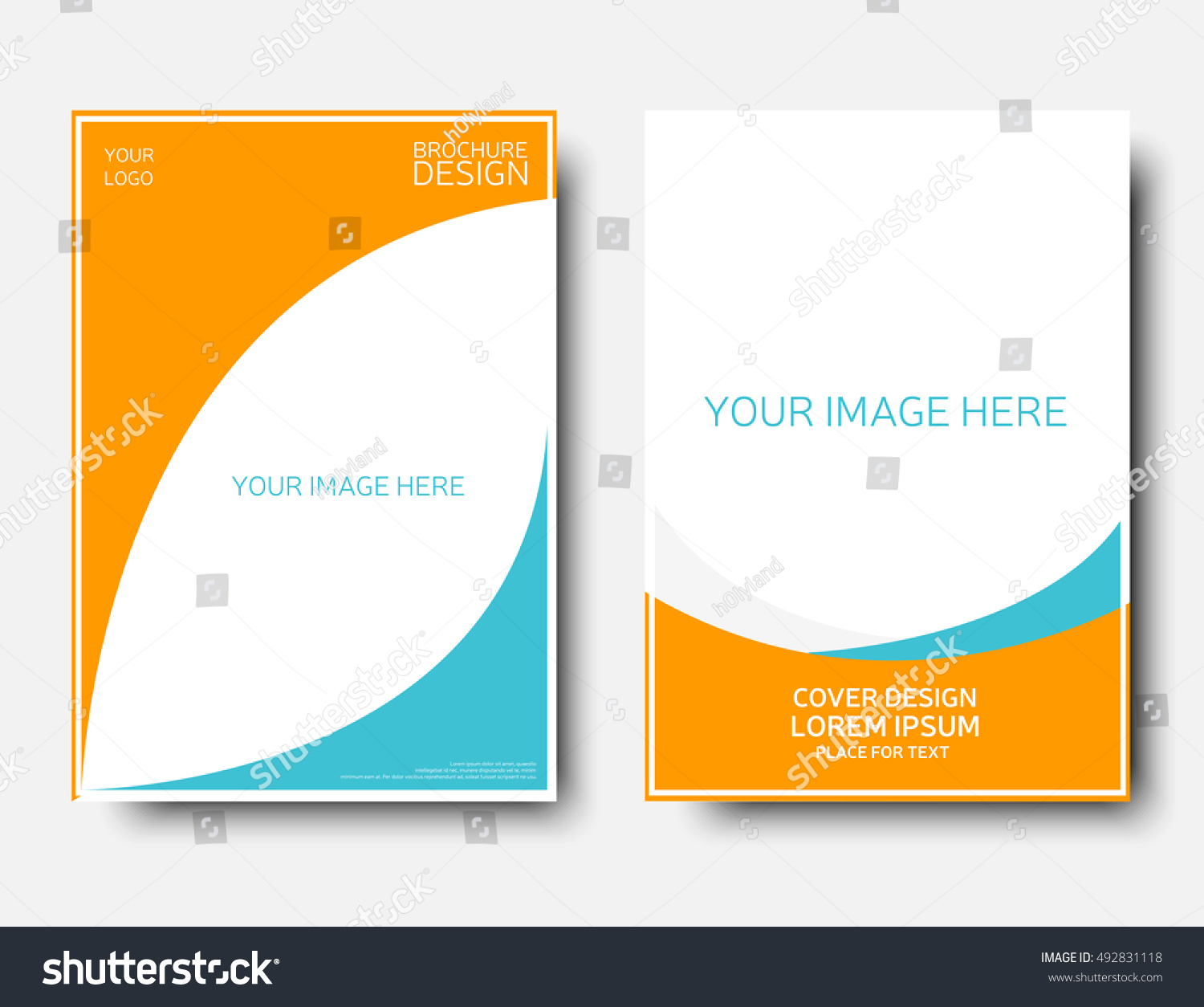 1 page brochure template empty creative annual report template blue stock vector 10 gorgeous. Black Bedroom Furniture Sets. Home Design Ideas