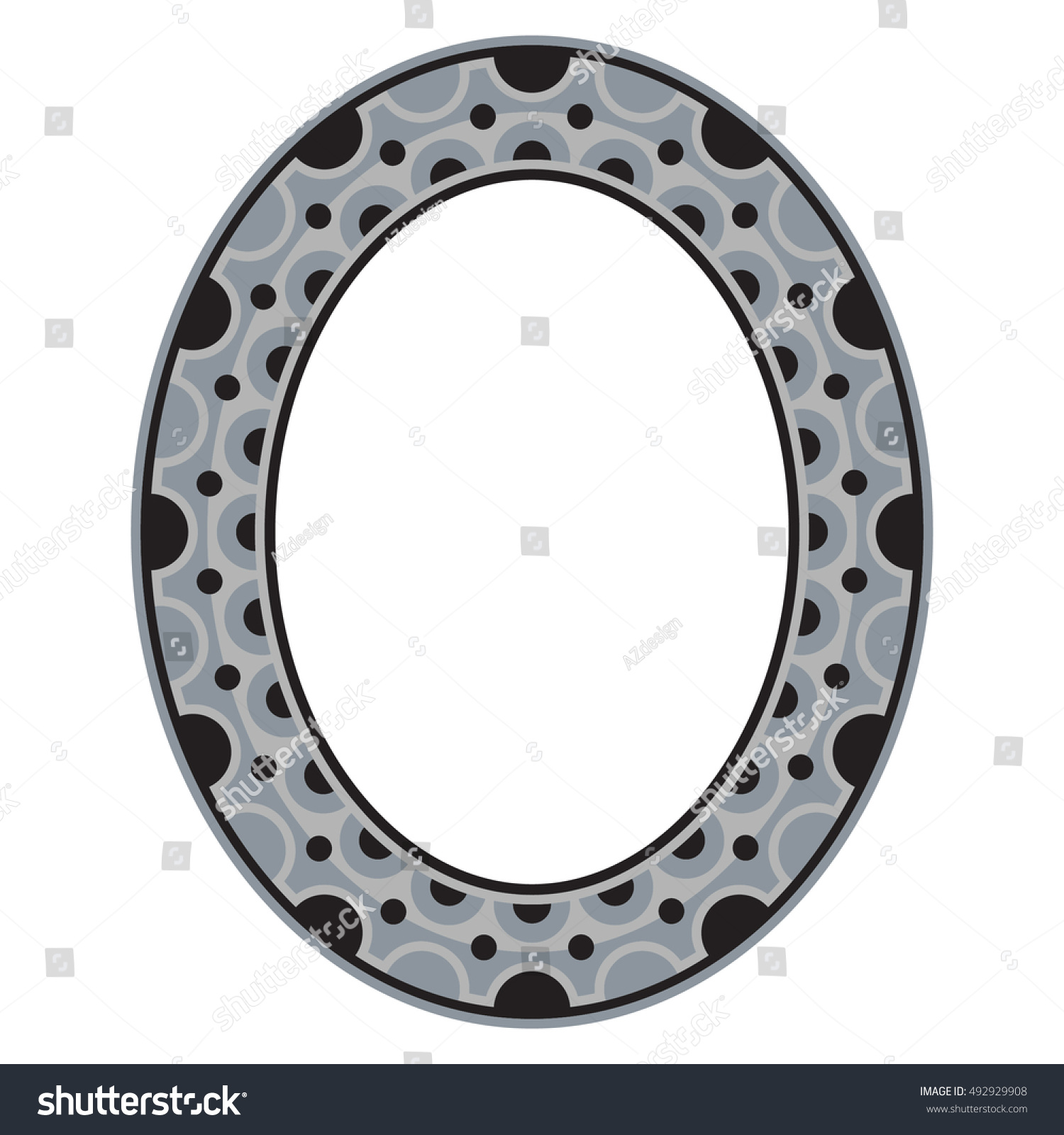 Decorative Oval Frame Vector Template Stock Vector (Royalty Free ...