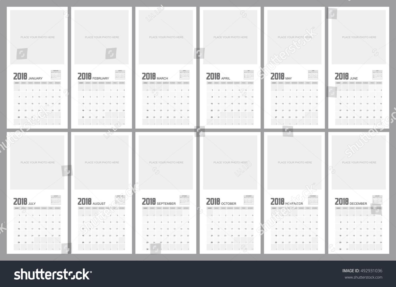 Calendar Planner Design : Calendar planner design stock vector illustration
