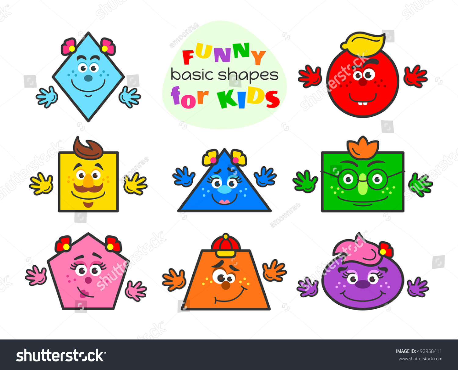 Preschool Shapes Clip Art