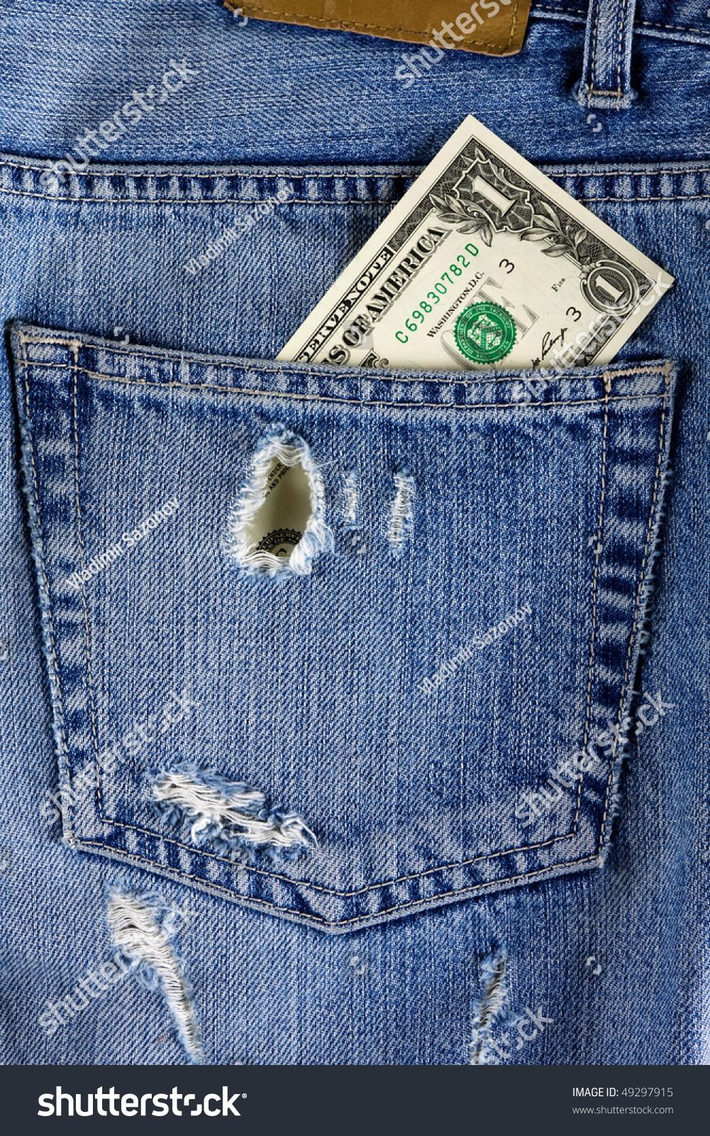 Jeans Back Pocket Texture Back Pocket Jeans. Blu...