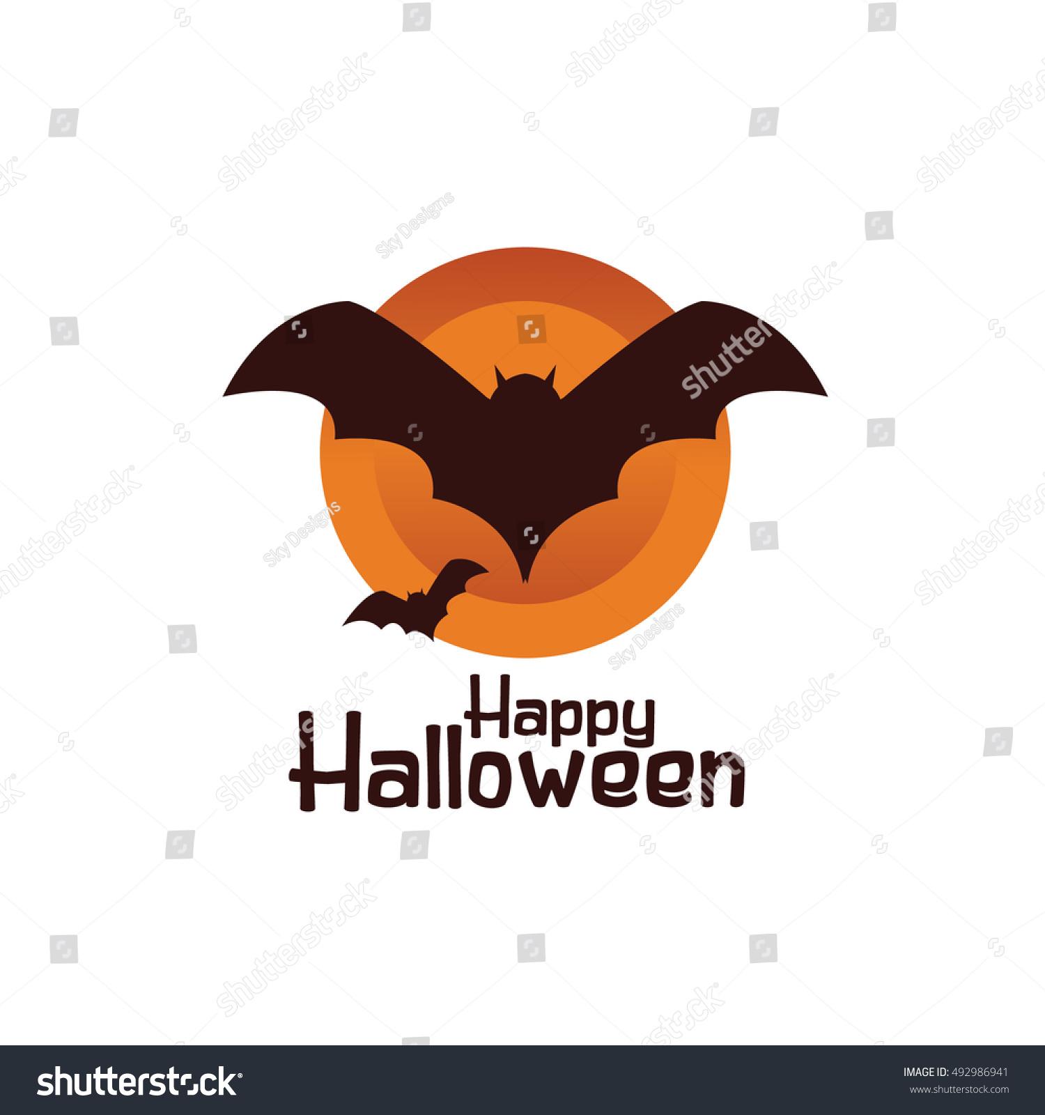 halloween bat stock vector 492986941 shutterstock